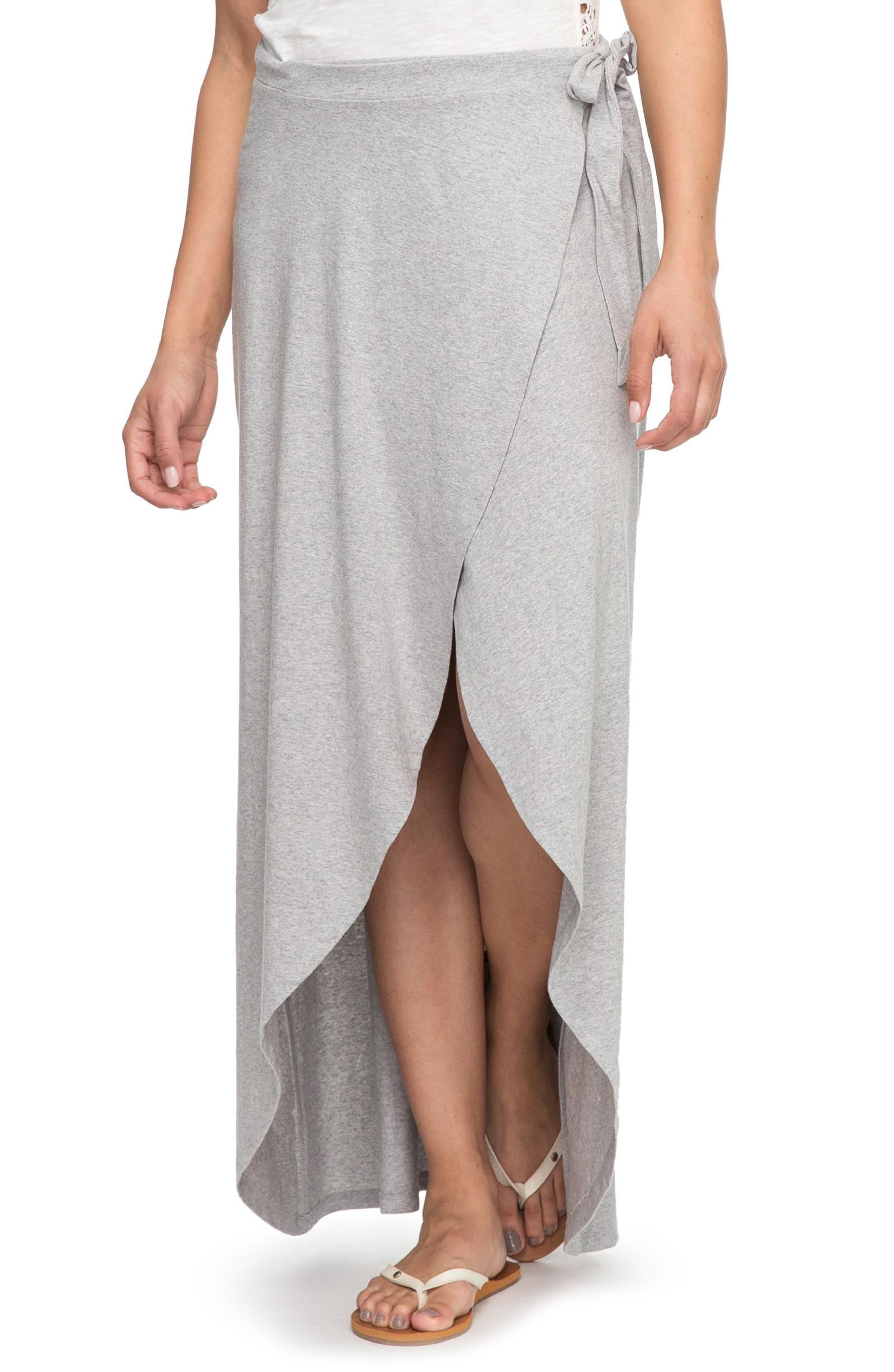 Everlasting Afternoon Long Wrap Skirt,                             Main thumbnail 1, color,                             Heritage Heather