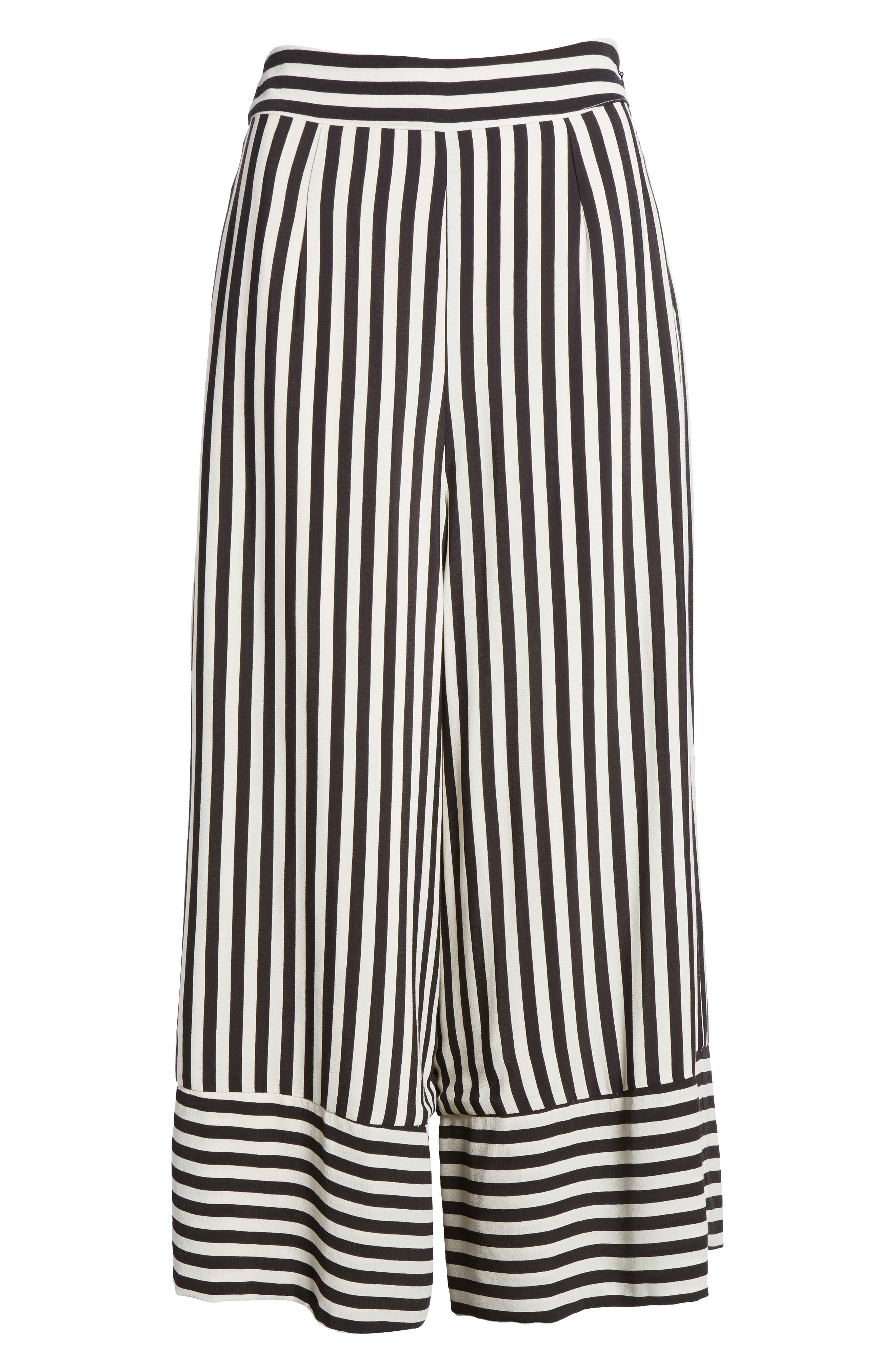 Chica Crop Pants,                             Alternate thumbnail 8, color,                             Bold Stripe