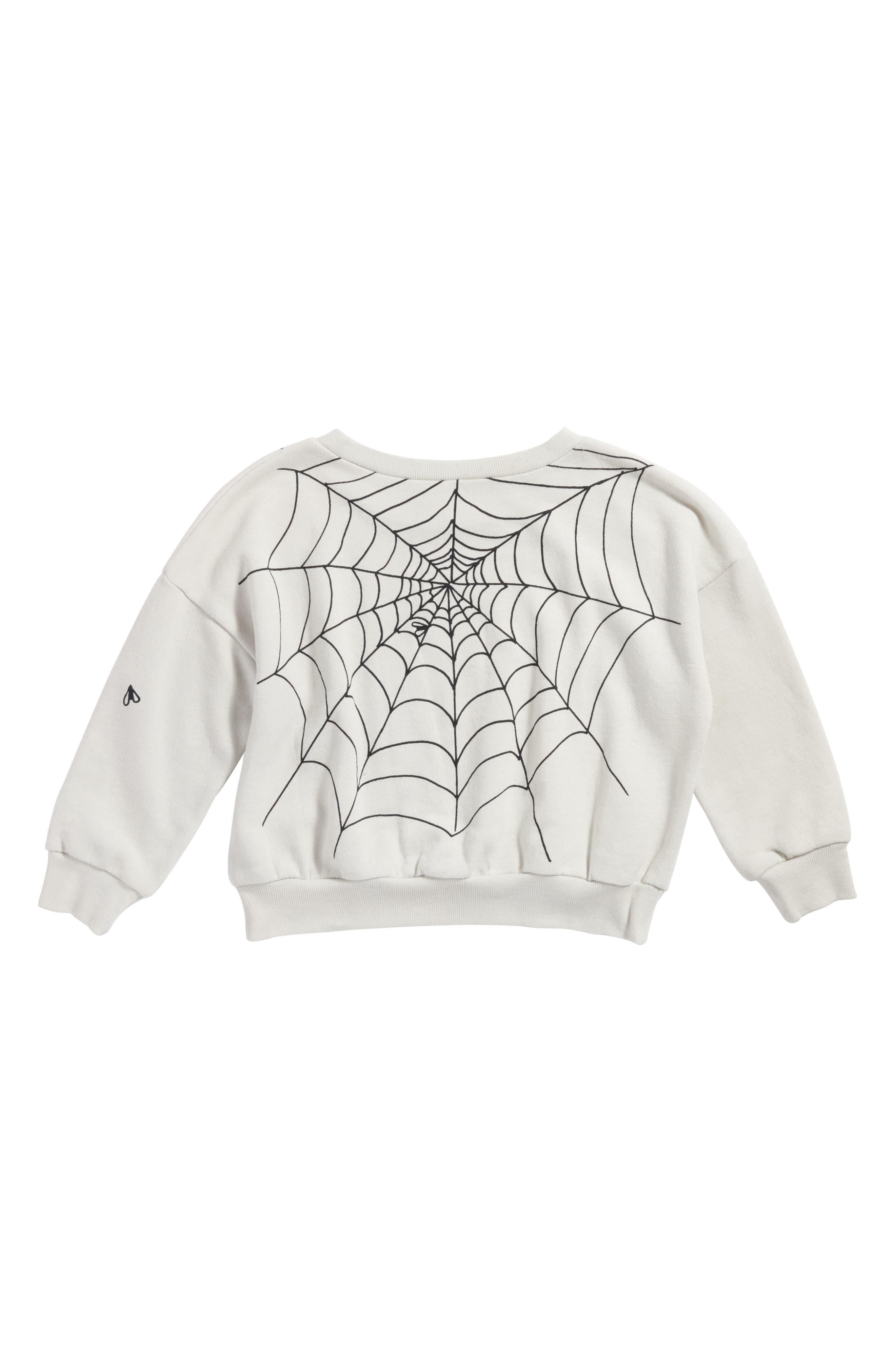 Graphic Sweatshirt,                             Alternate thumbnail 3, color,                             Grey Lunar Spider