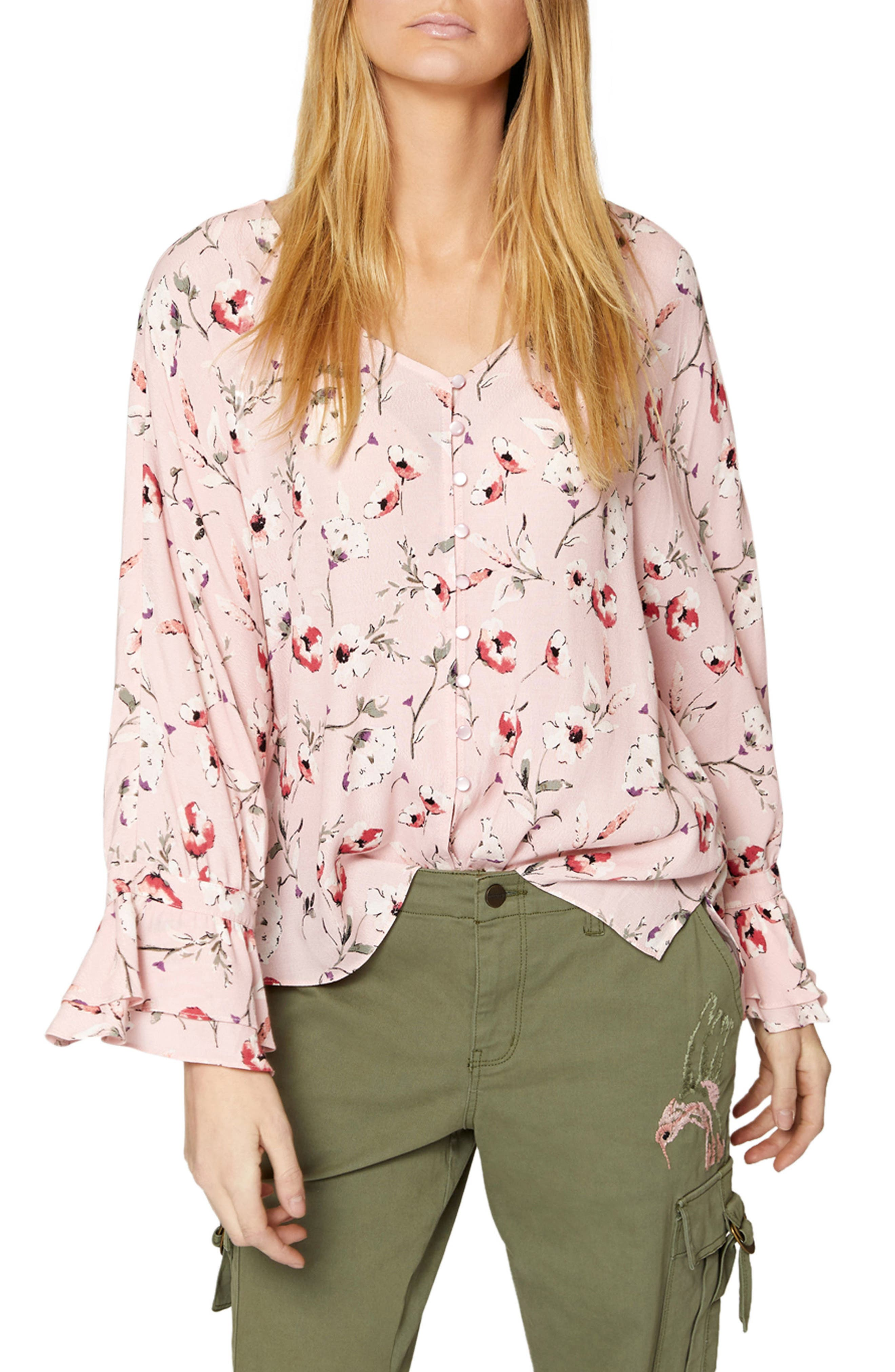 Alternate Image 1 Selected - Sanctuary Posey Floral Blouse