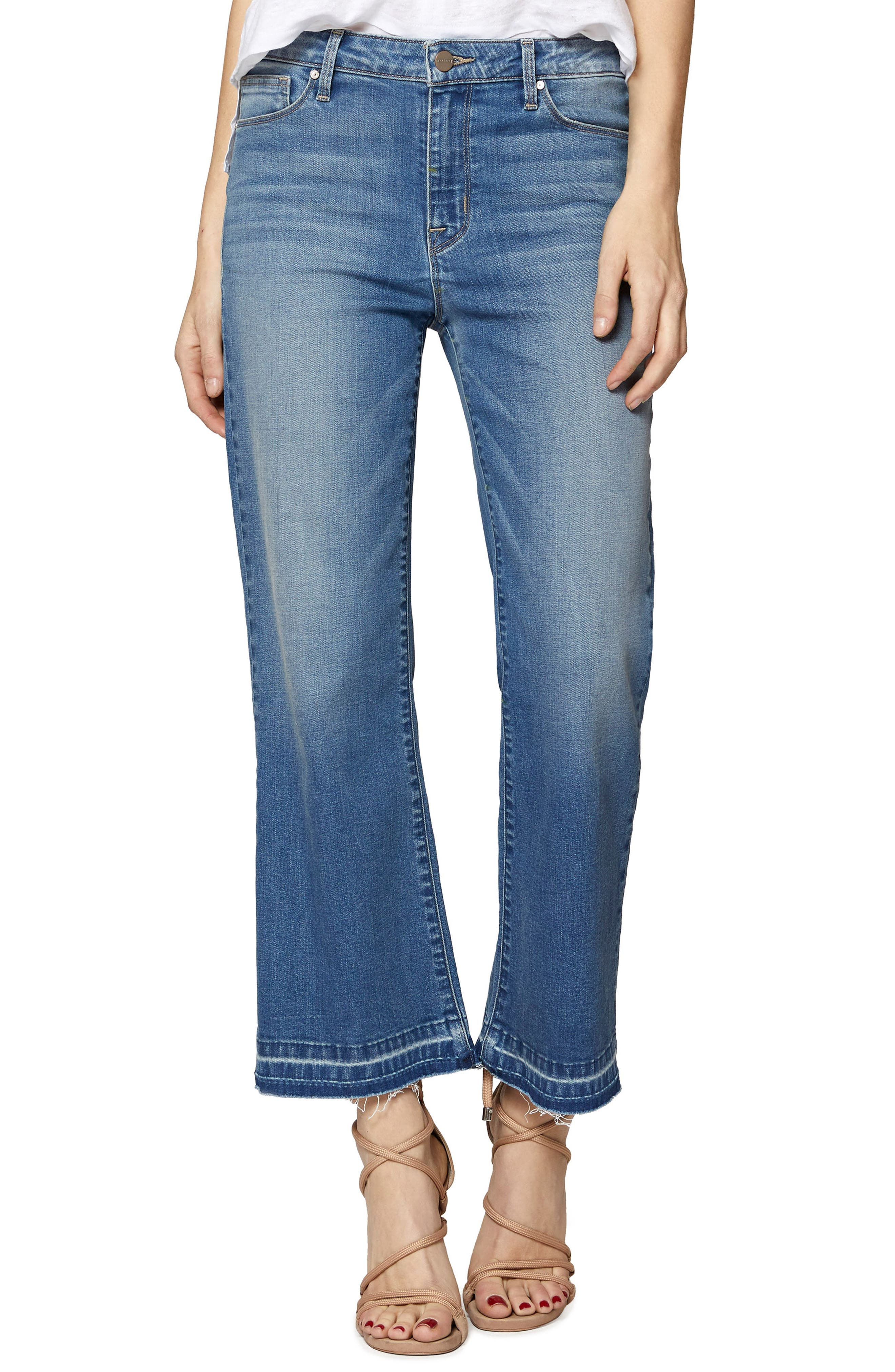 Sanctuary Robbie Release Hem Crop Jeans (Mia Wash)