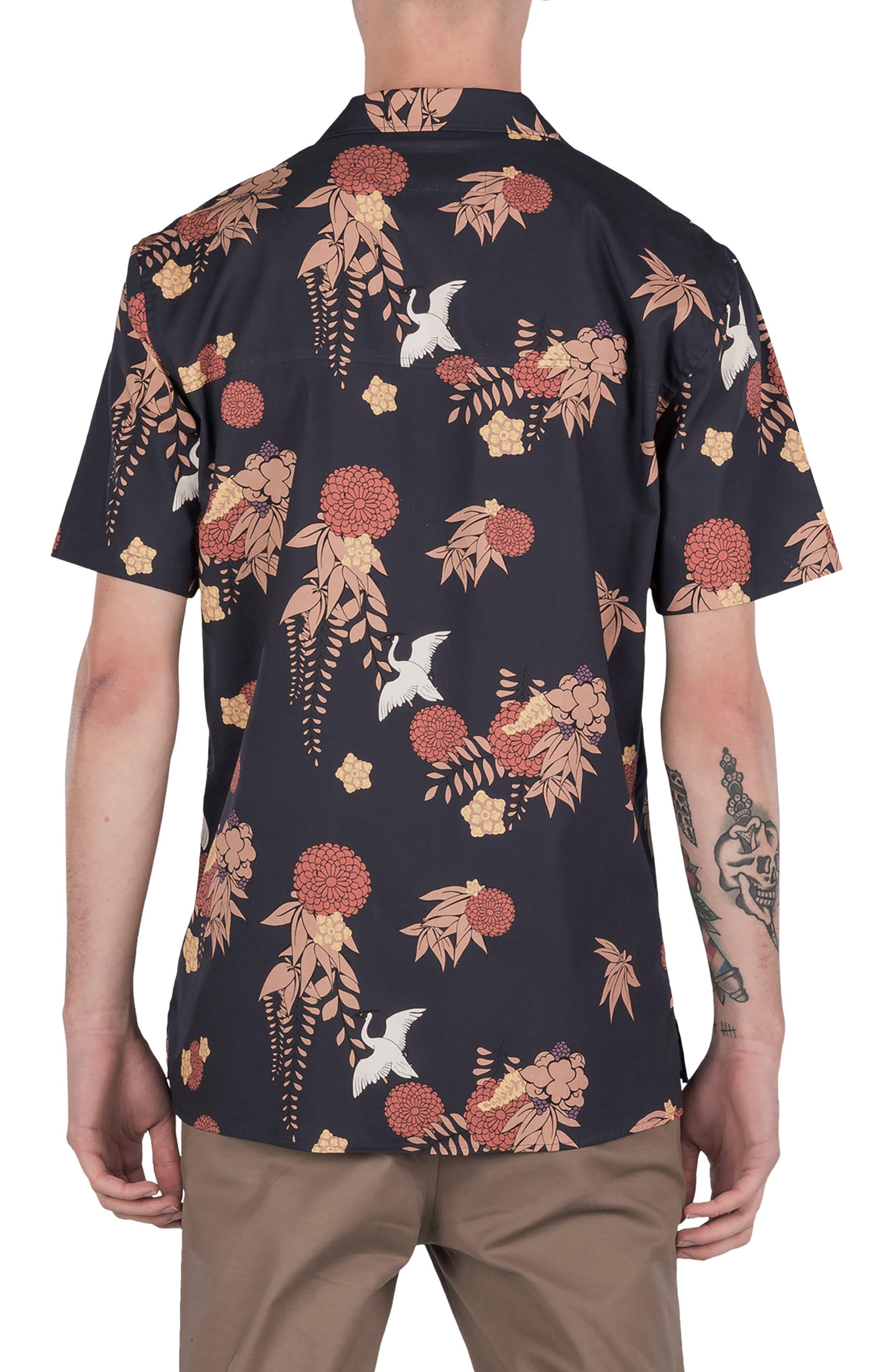 Crane Short Sleeve Shirt,                             Alternate thumbnail 2, color,                             Navy