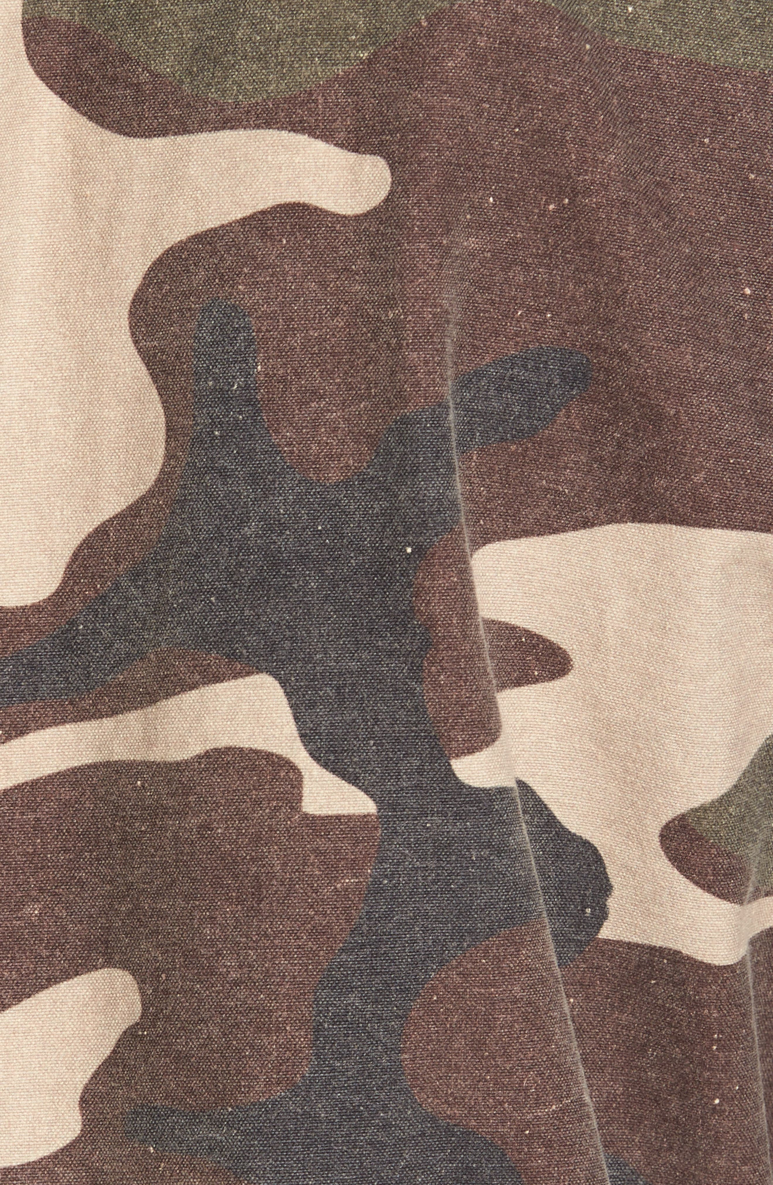 Denim Regular Fit Camo Field Jacket,                             Alternate thumbnail 5, color,                             Camo