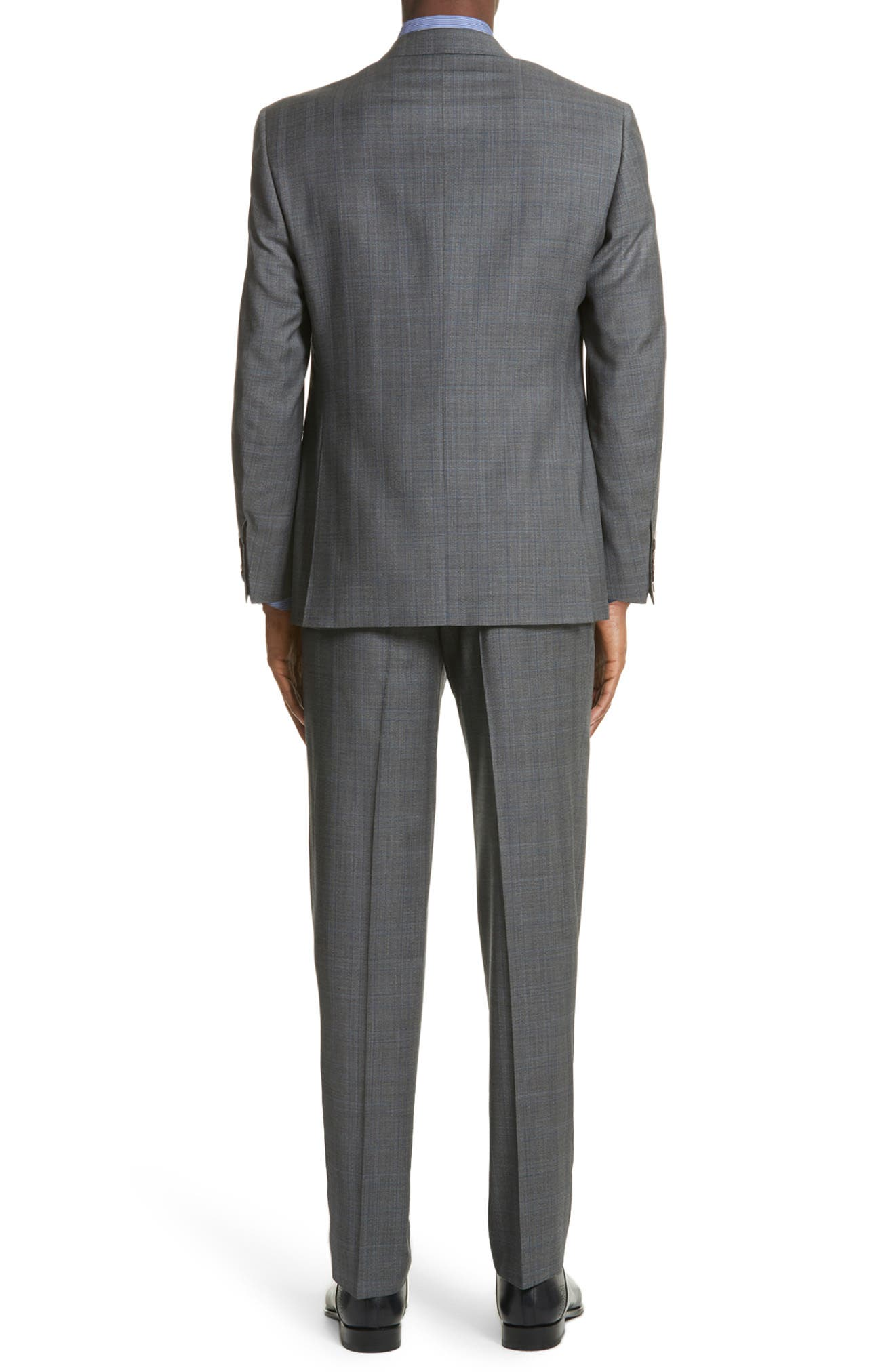 Classic Fit Solid Wool Suit,                             Alternate thumbnail 2, color,                             Grey