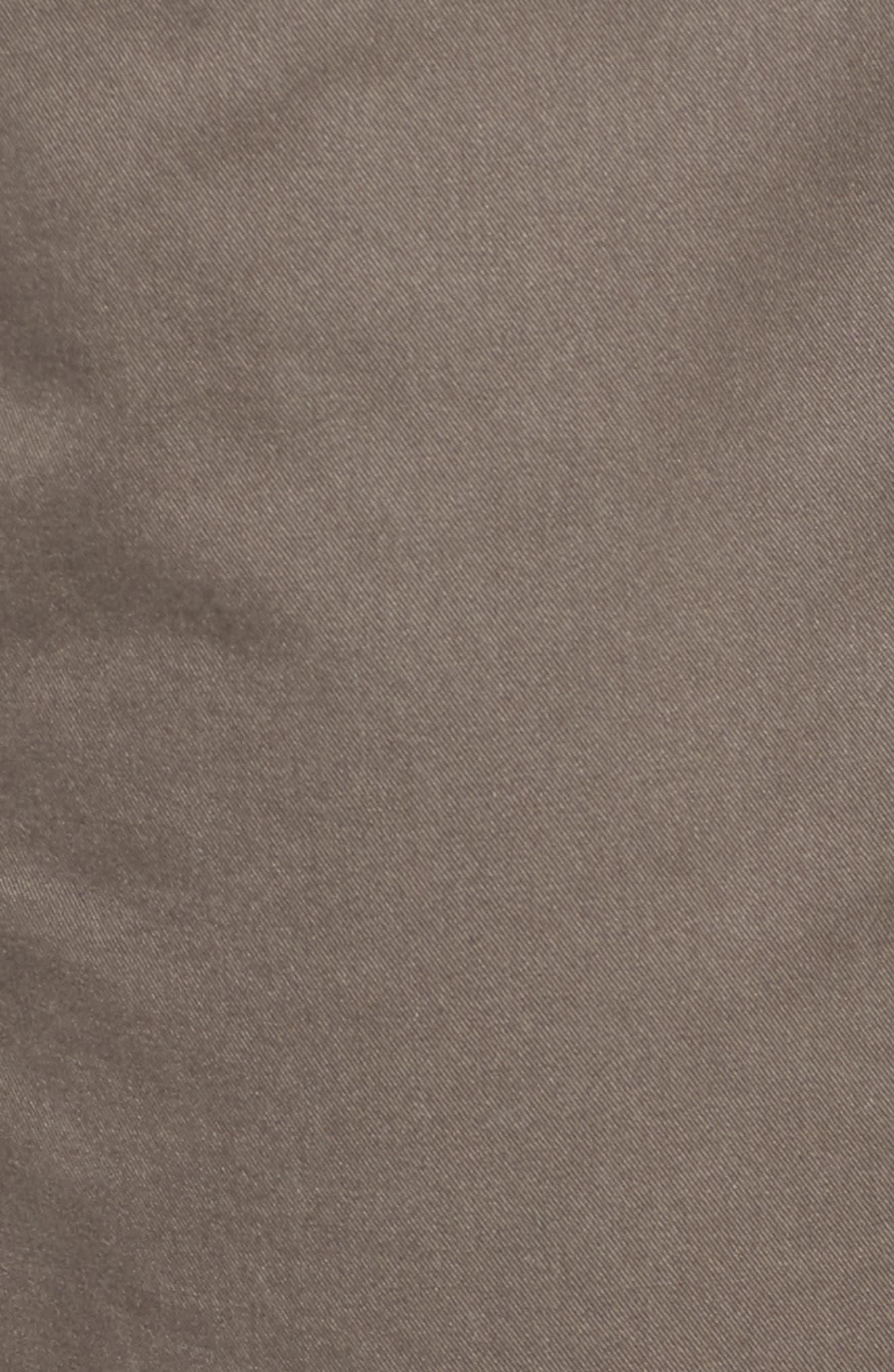 Slim Organic Cotton Blend Pants,                             Alternate thumbnail 5, color,                             Rye