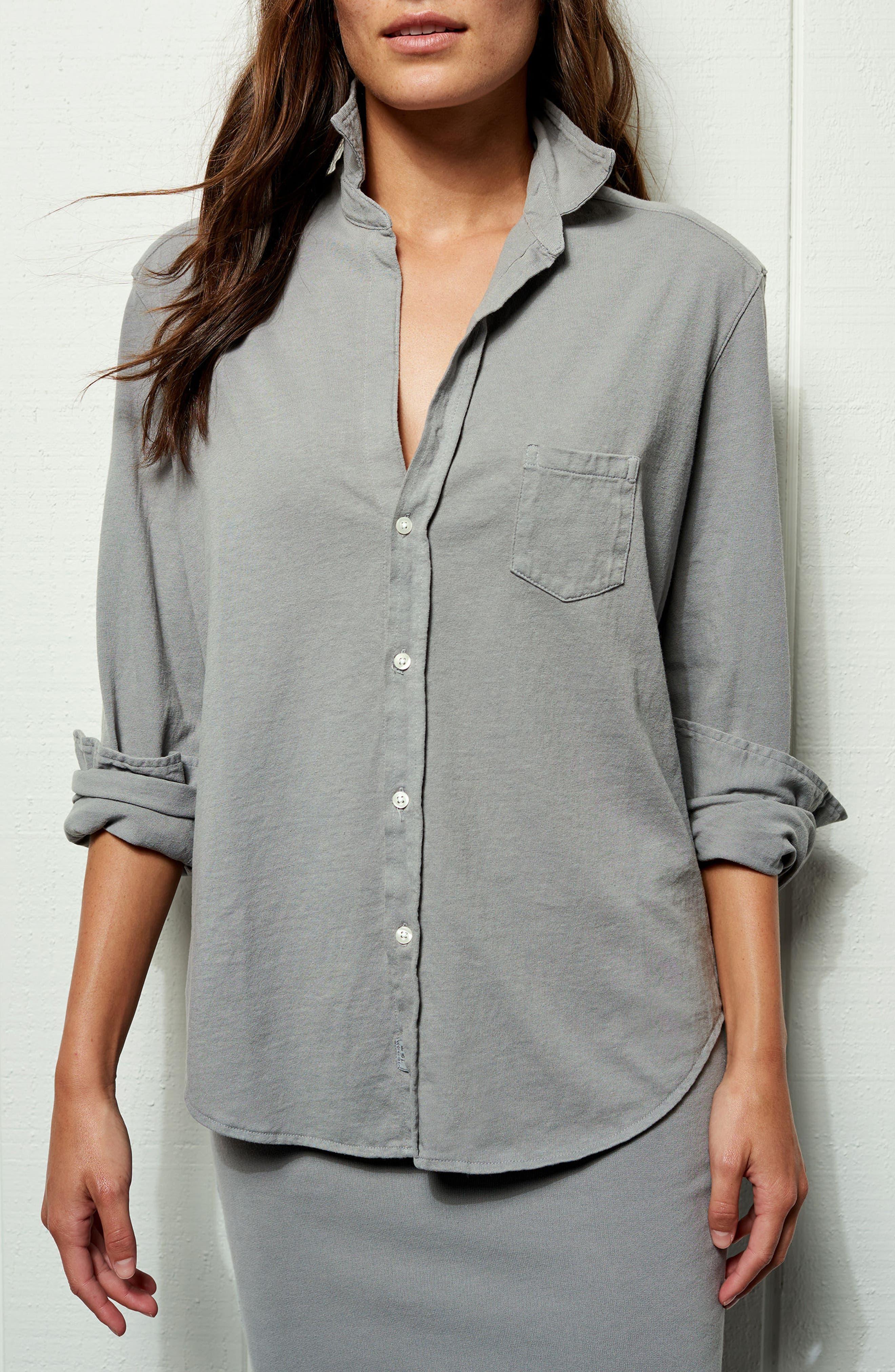 Tee Lab Knit Button Down Shirt,                             Alternate thumbnail 7, color,                             Shadow