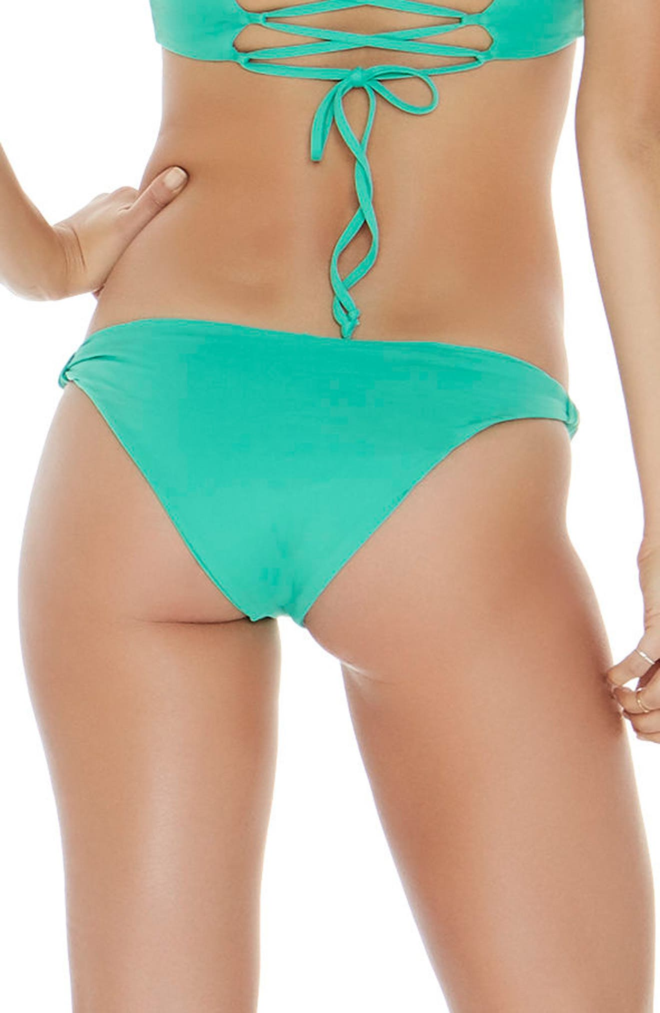 Sundrop Slider Bikini Bottoms,                             Alternate thumbnail 2, color,                             Spearmint