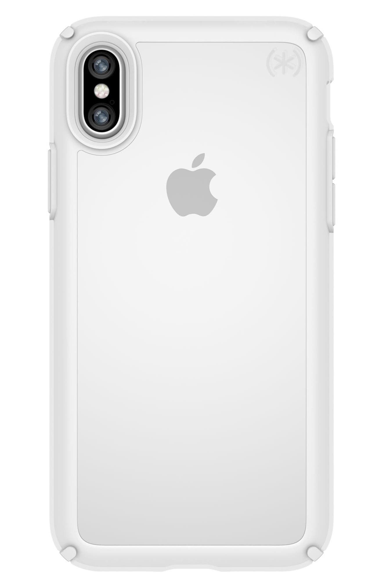 Transparent iPhone X Case,                             Main thumbnail 1, color,                             Clear/ Bright White