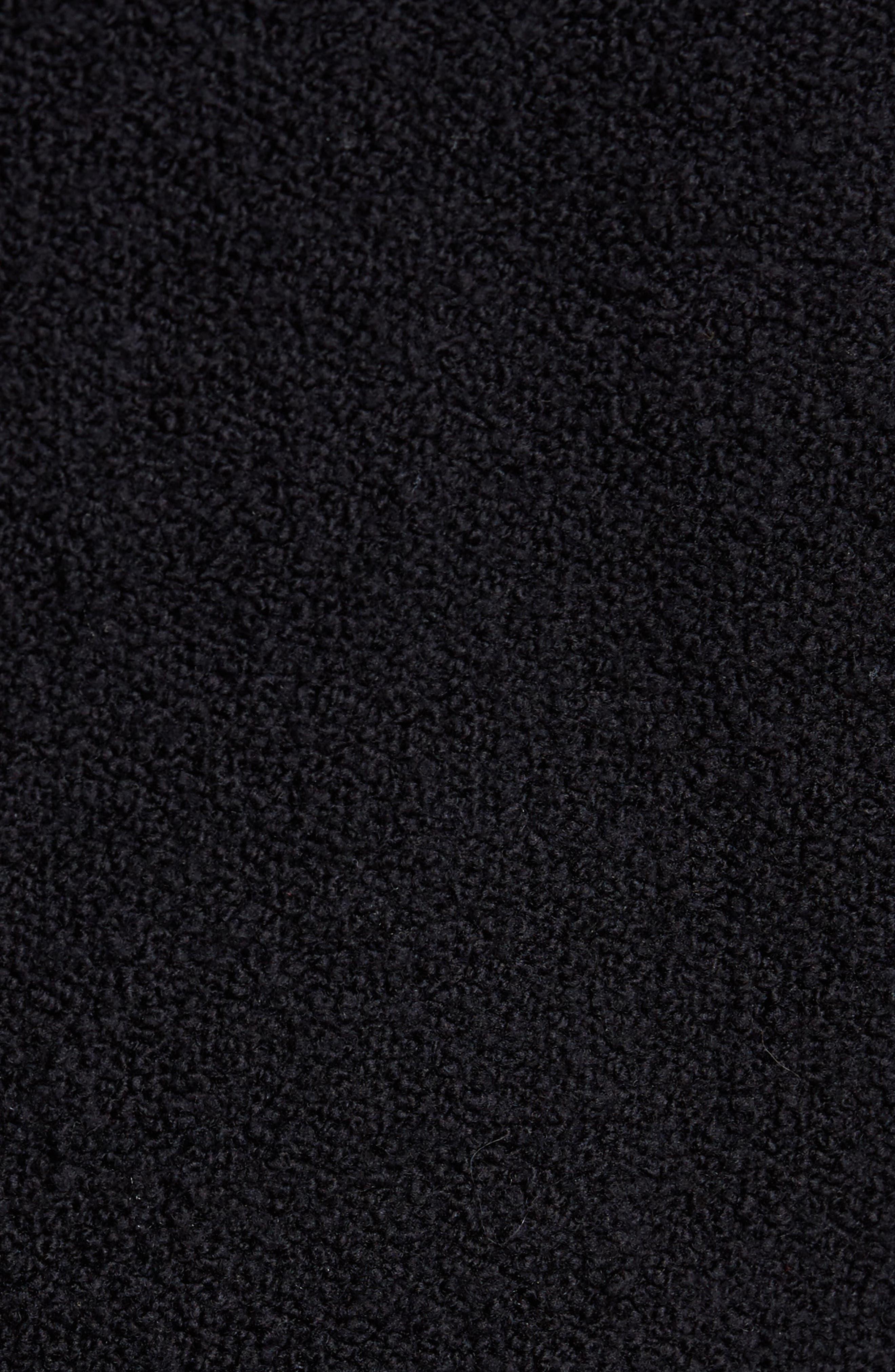 Wool Fleece Pullover Hoodie,                             Alternate thumbnail 5, color,                             Black