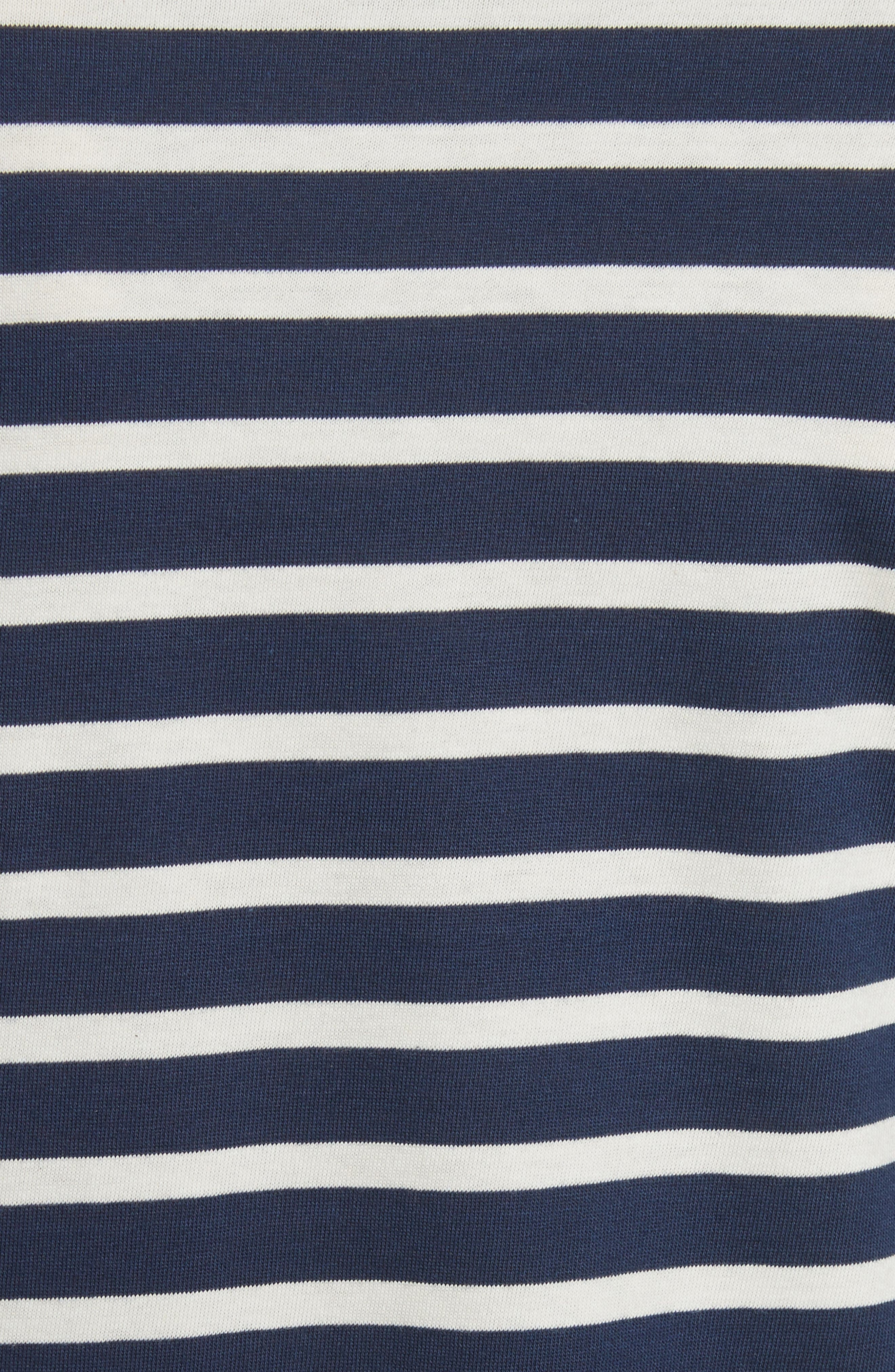 Minquiers Moderne Striped Sailor Shirt,                             Alternate thumbnail 6, color,                             Navy/ Off White