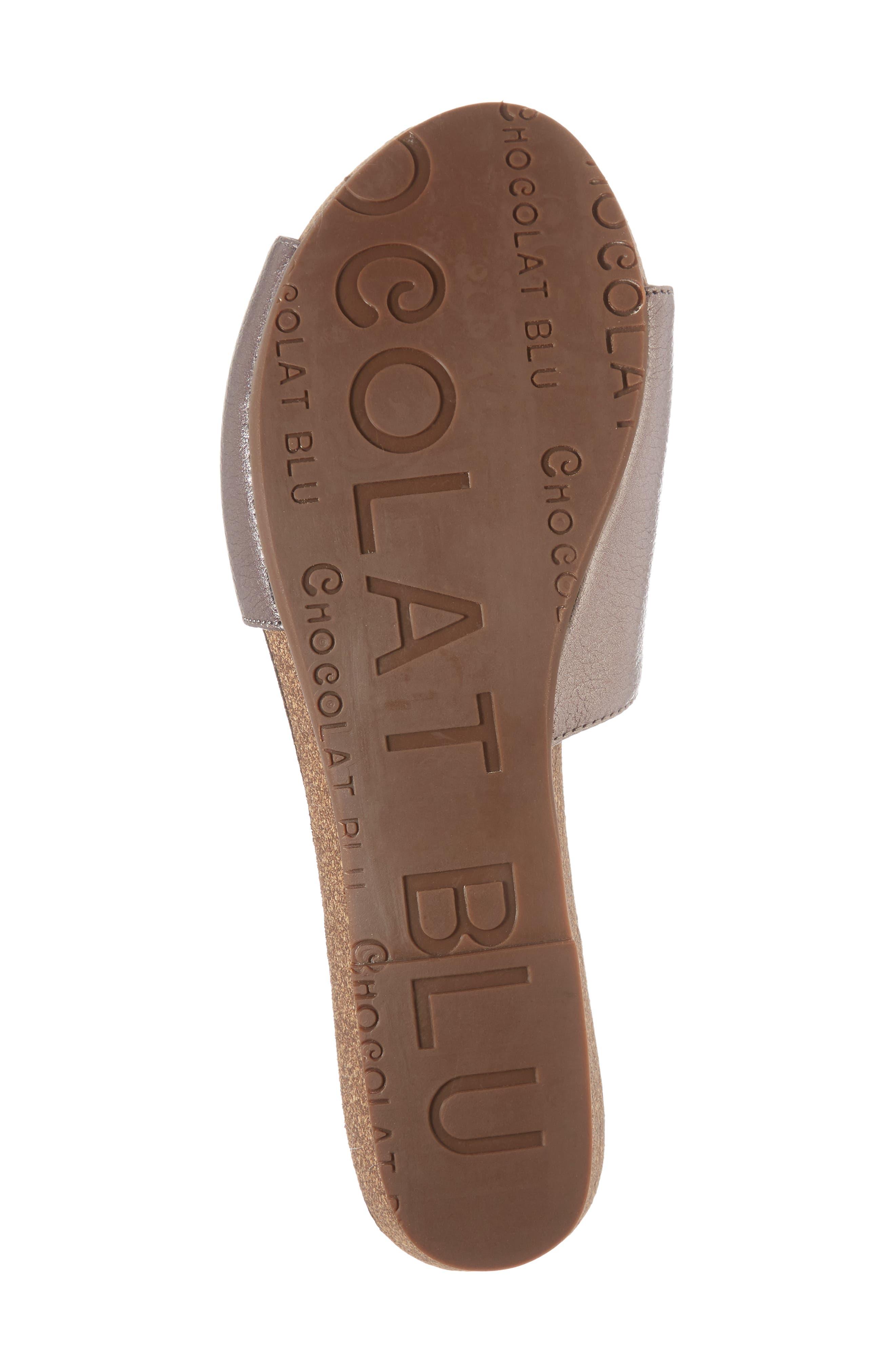 Viveca Slide Sandal,                             Alternate thumbnail 6, color,                             Gunmetal Leather