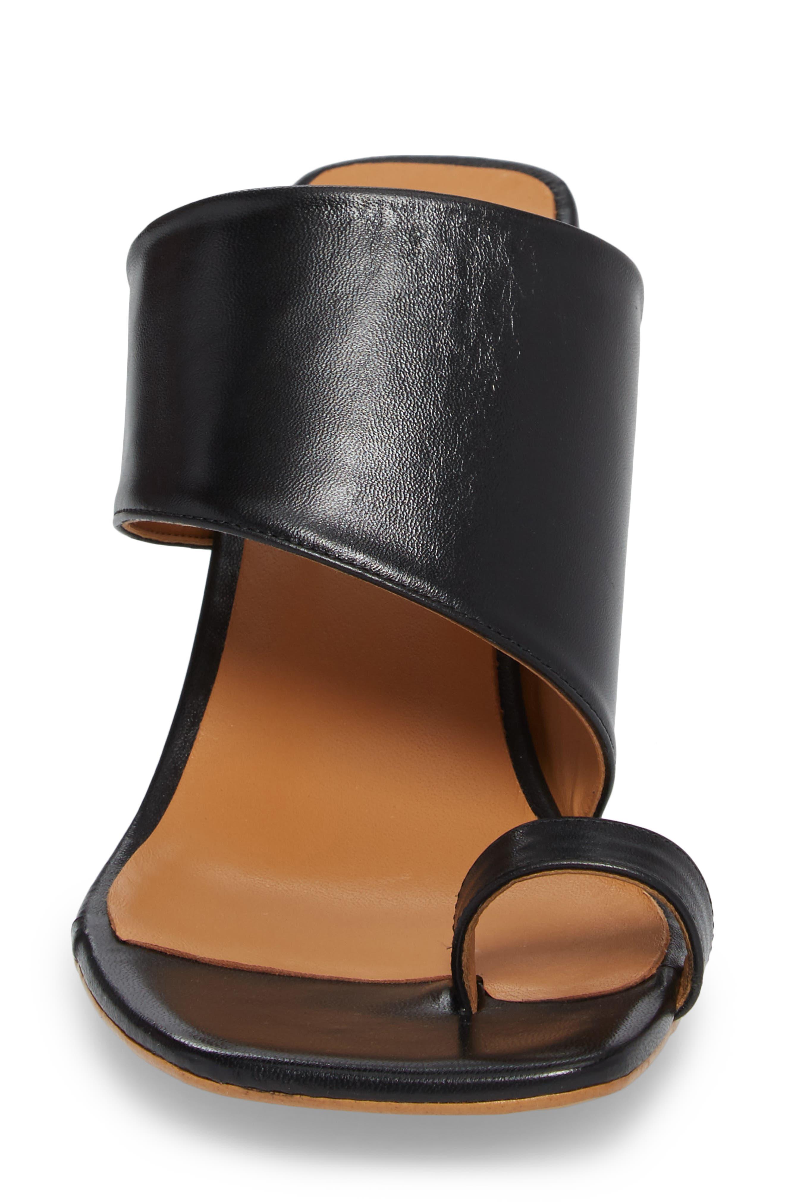 Nimble Toe Loop Slide Sandal,                             Alternate thumbnail 4, color,                             Black