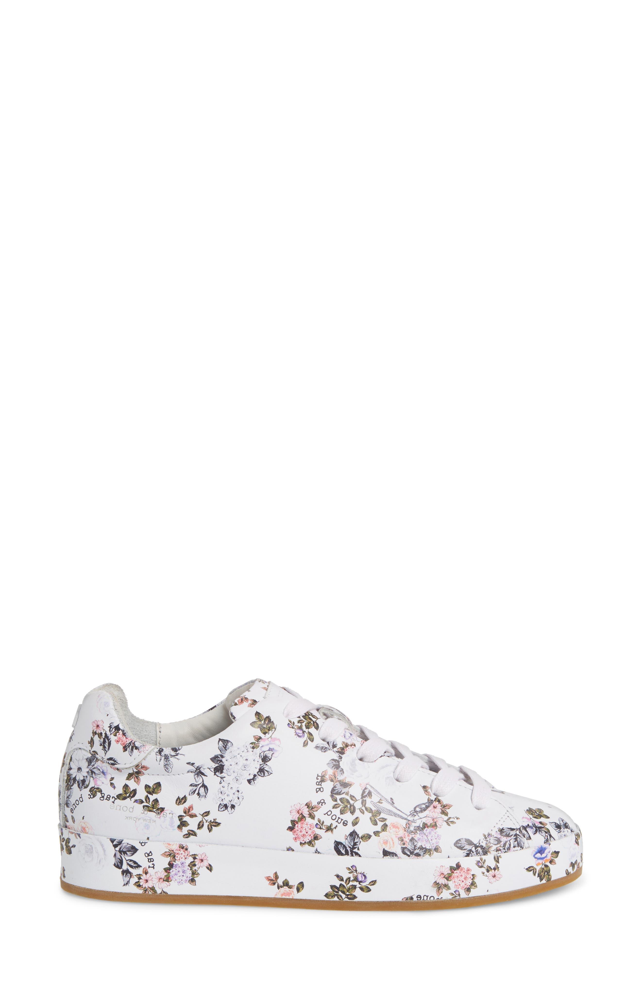 RB1 Low-Top Sneaker,                             Alternate thumbnail 3, color,                             Garden Florl
