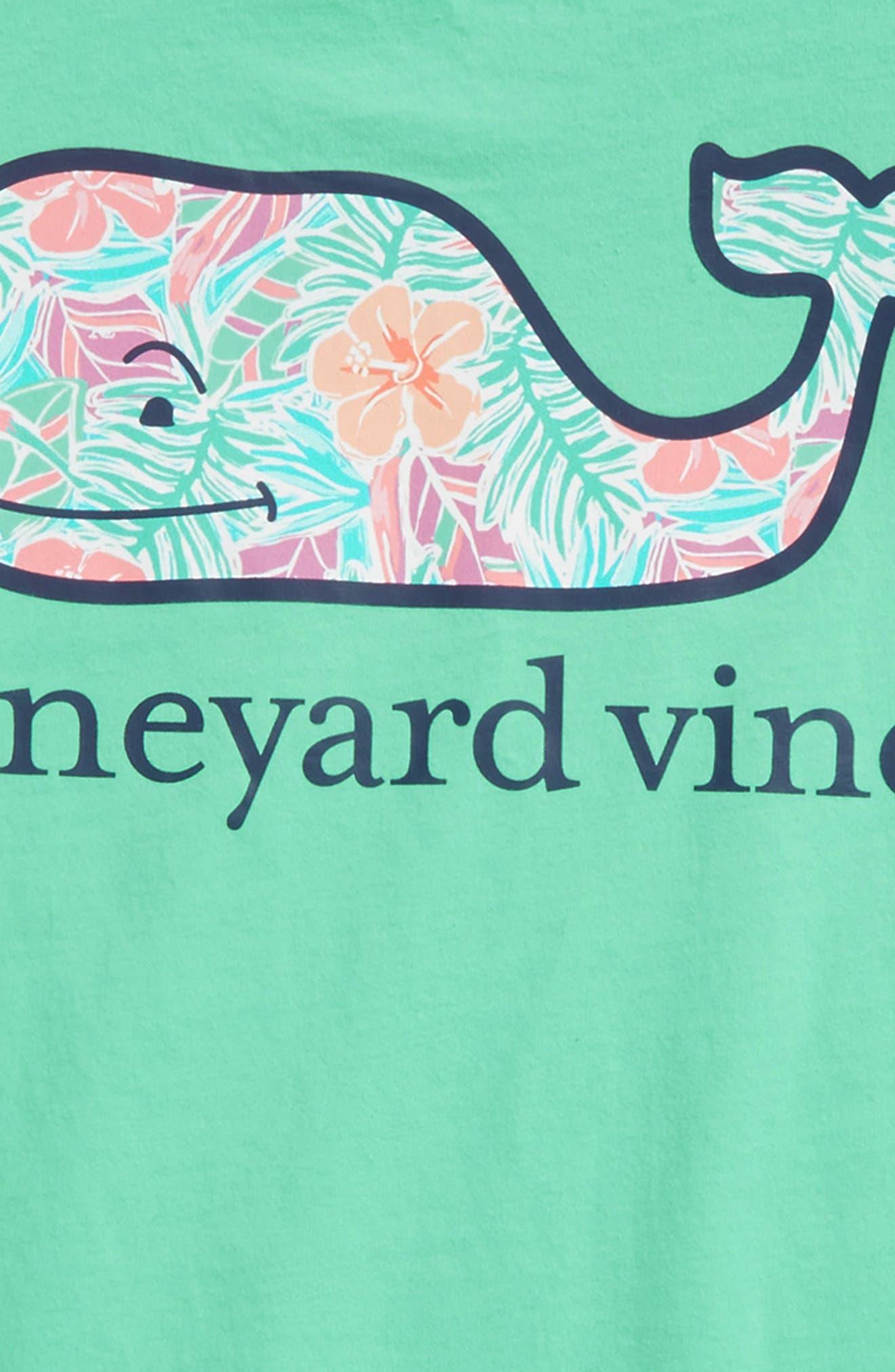 Gulf Tropical Whale Fill Pocket T-Shirt,                             Alternate thumbnail 3, color,                             Antigua Green