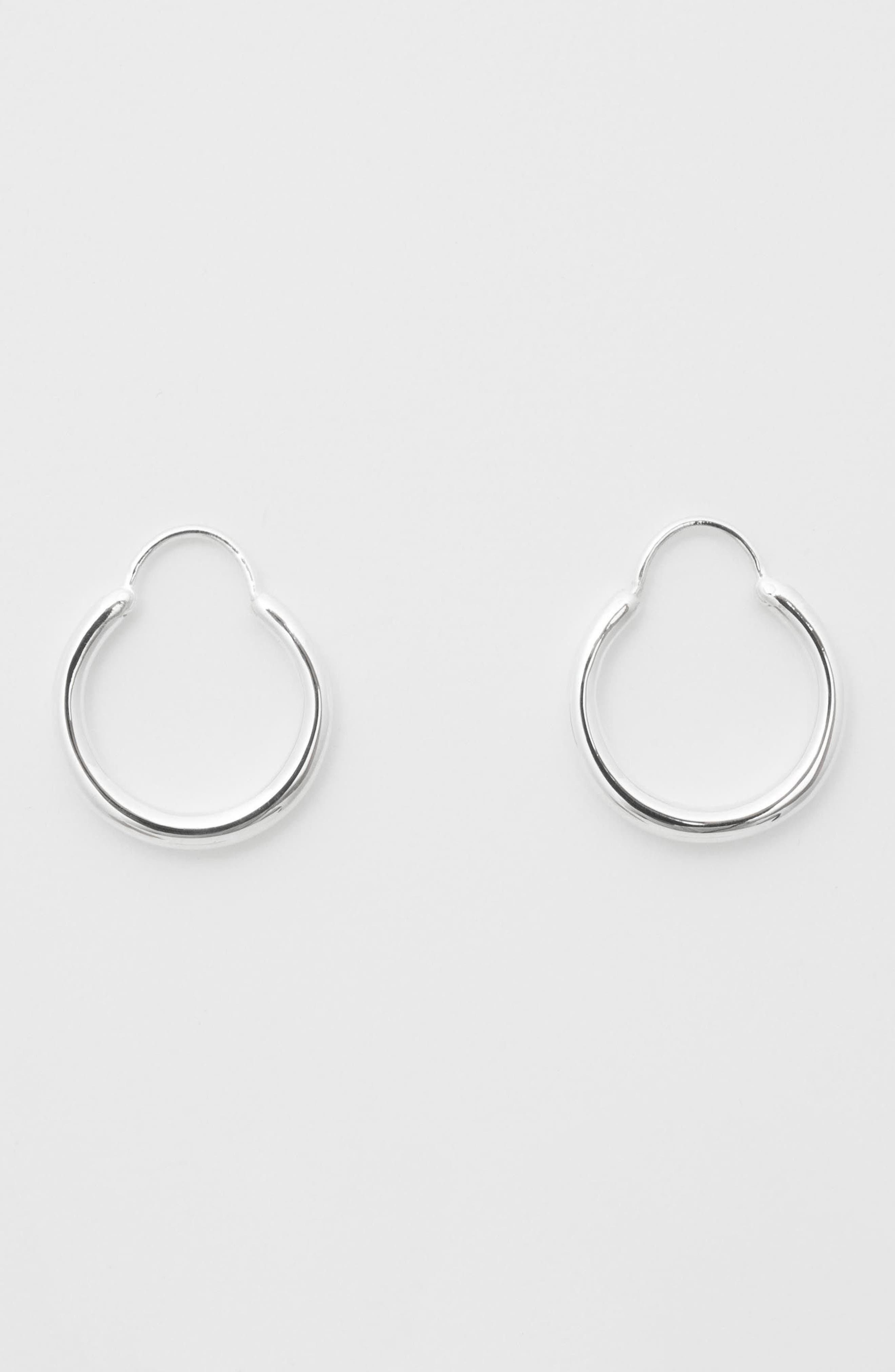 Small Snake Polished Earrings,                             Alternate thumbnail 3, color,                             Polished Silver