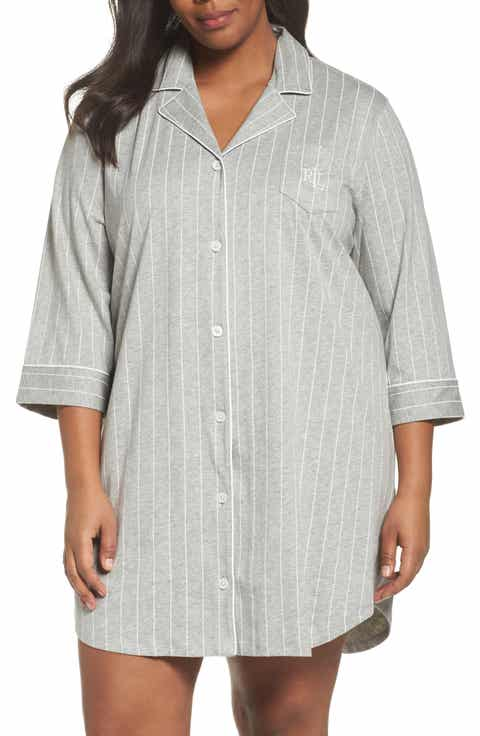 Lauren Ralph Lauren Knit Jersey Sleep Shirt (Plus Size) (Online Only)