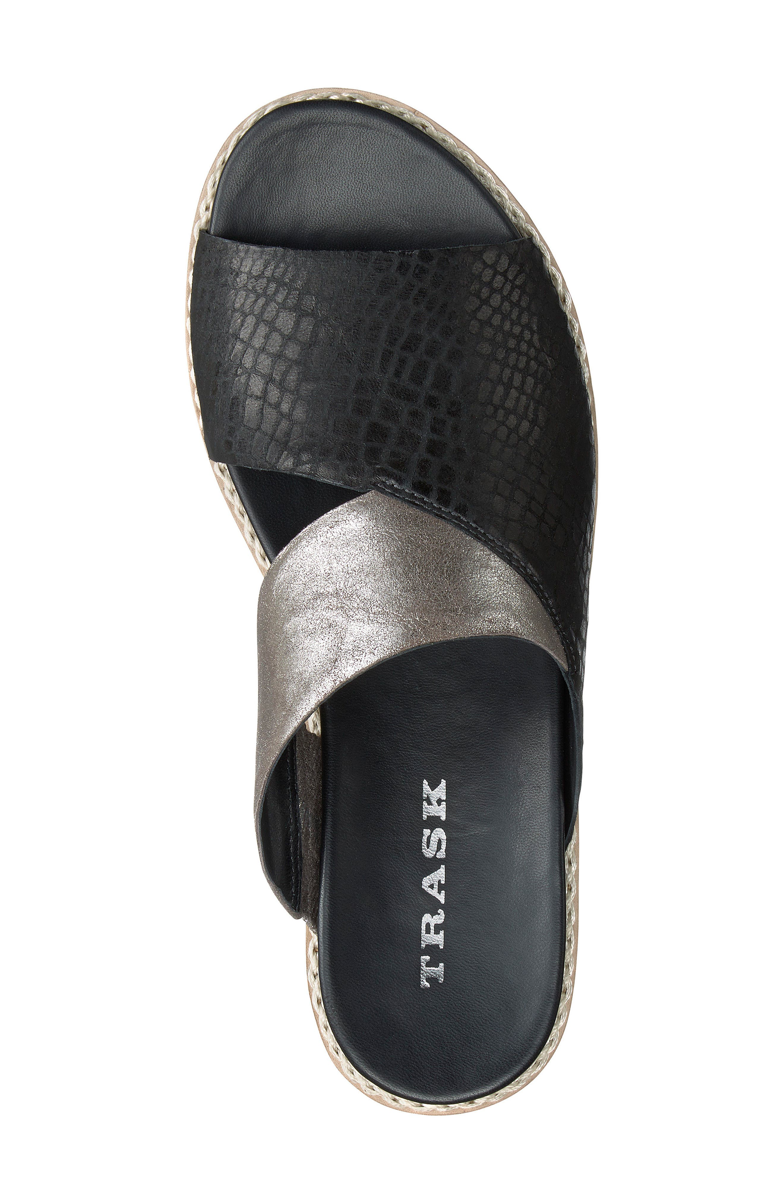 Codi Sandal,                             Alternate thumbnail 5, color,                             Black Embossed Leather