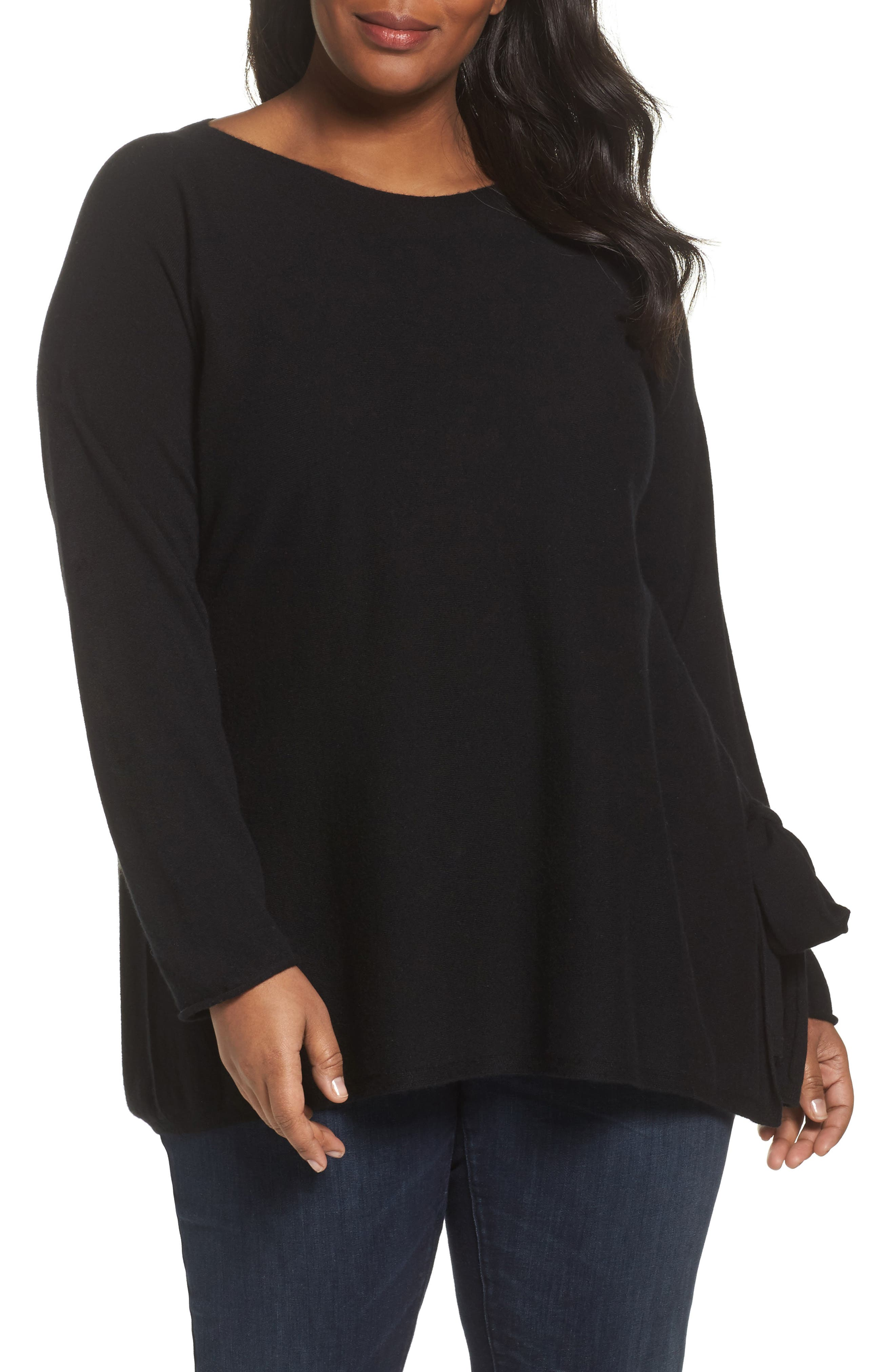 Eileen Fisher Cashmere Tunic Sweater (Plus Size)