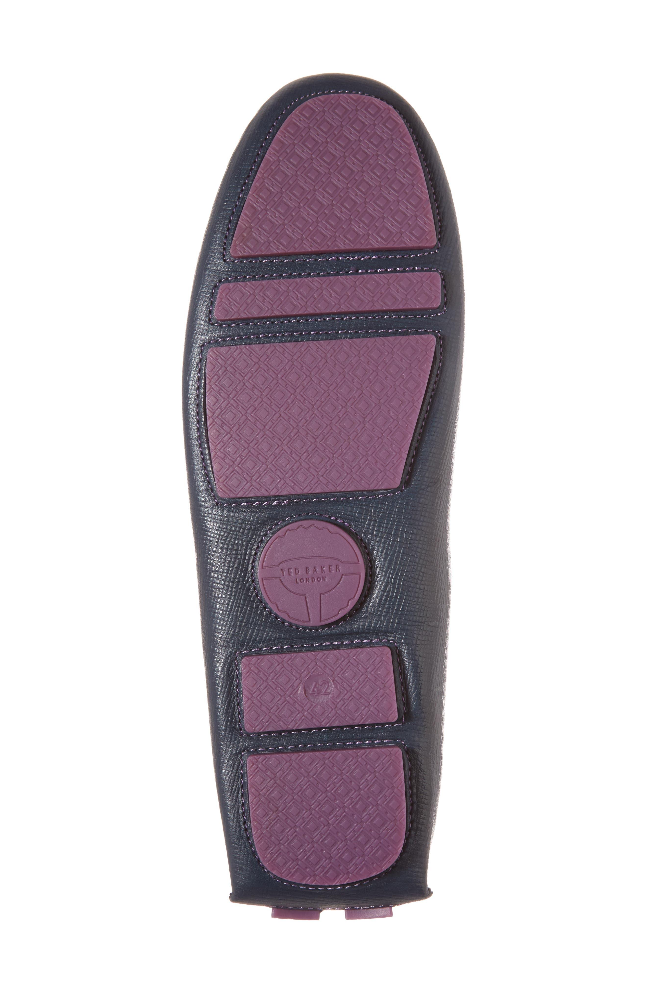 Urbonn Tasseled Driving Loafer,                             Alternate thumbnail 6, color,                             Dark Blue Leather