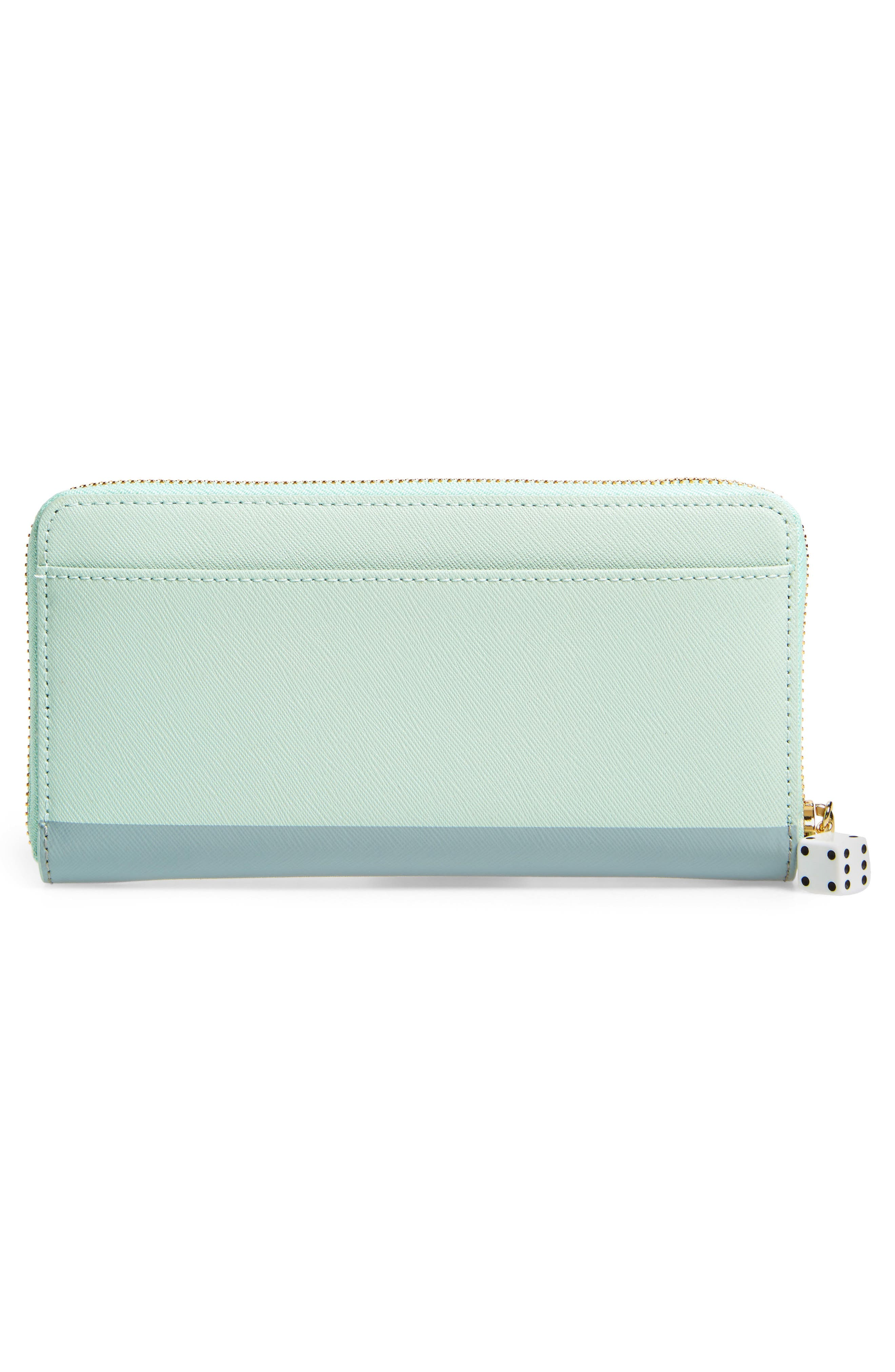 Alternate Image 3  - kate spade new york pink car lacey leather wallet