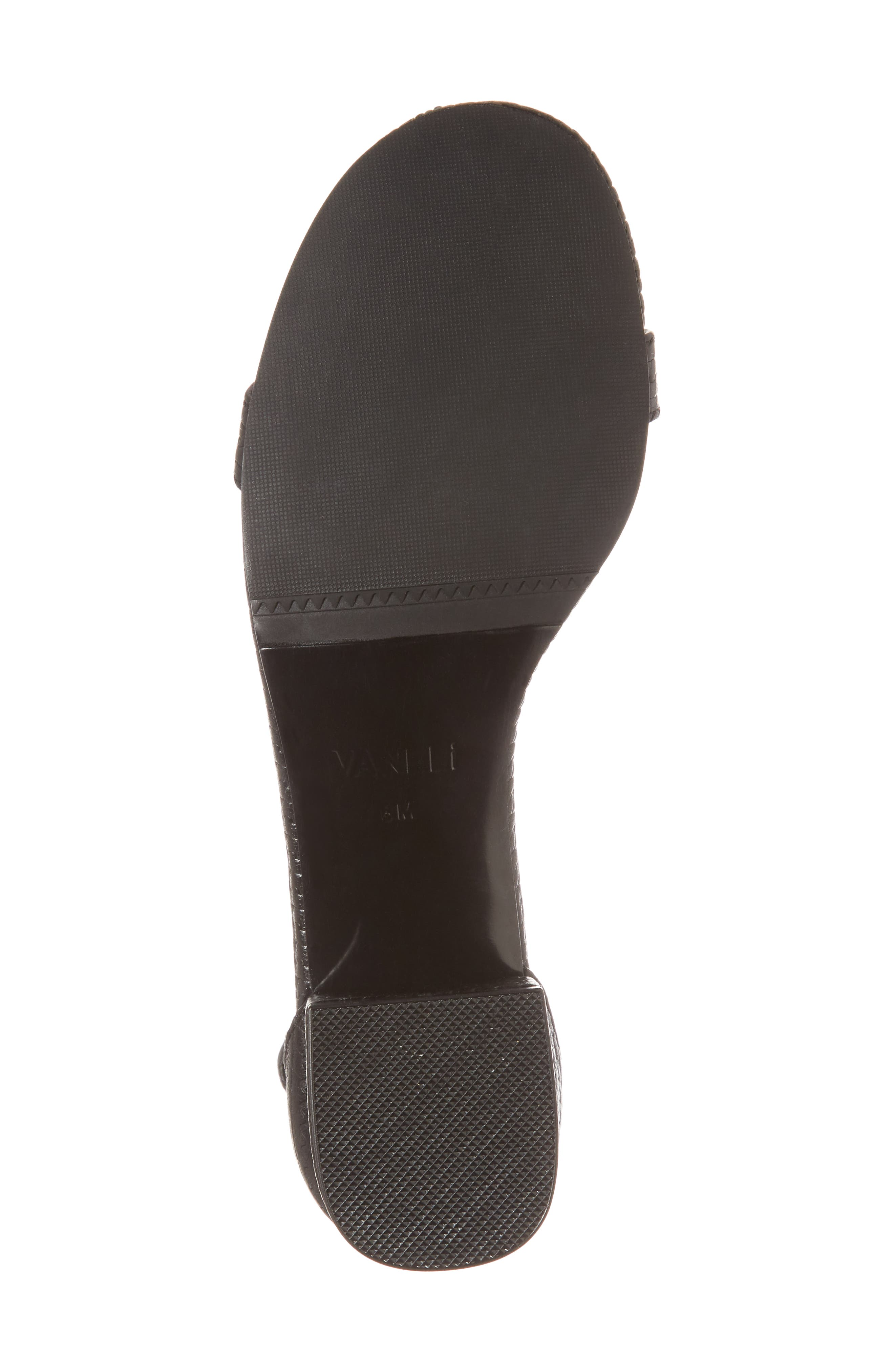 Hirin Sandal,                             Alternate thumbnail 6, color,                             Black Printed Leather