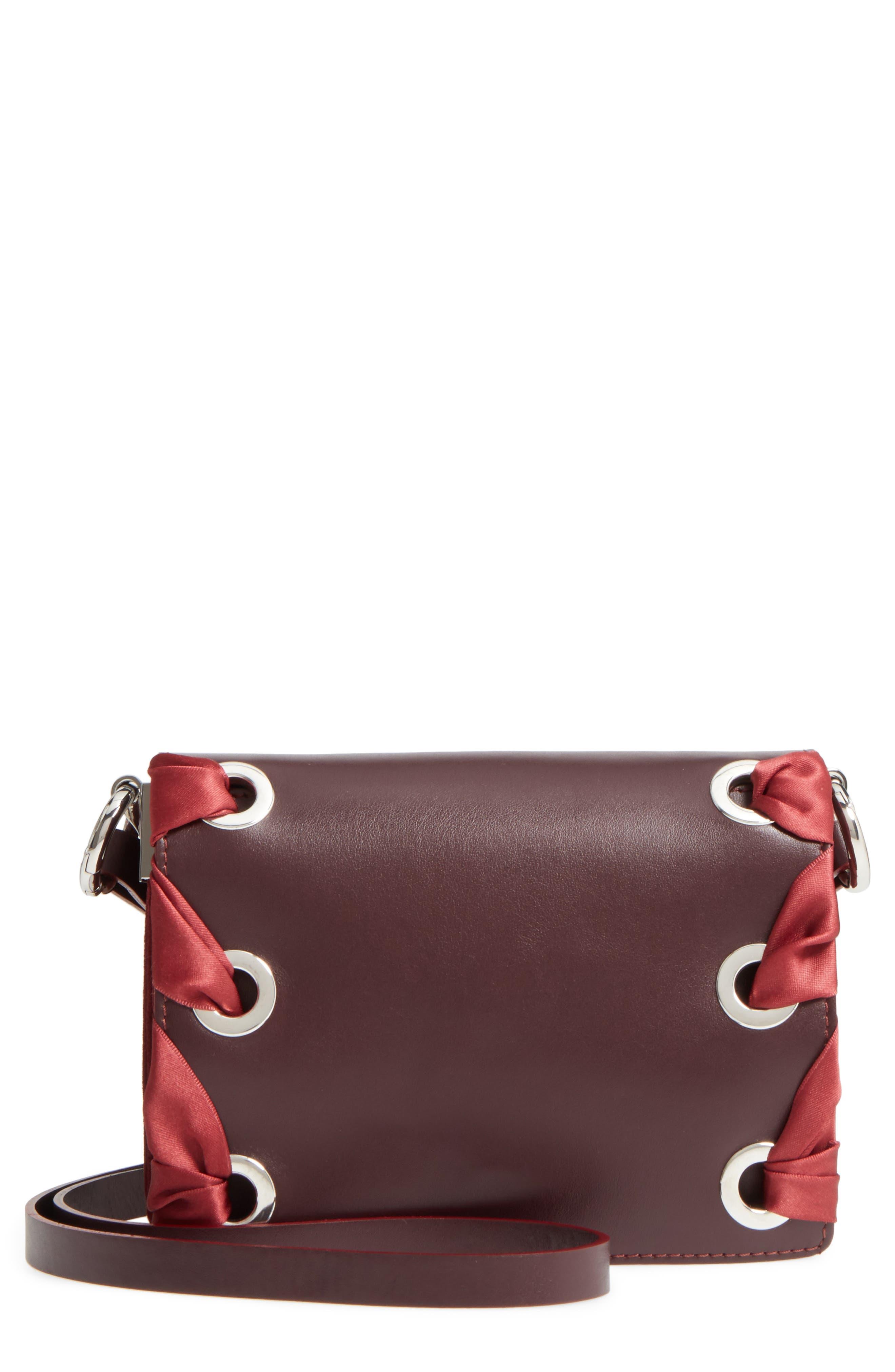 Alternate Image 1 Selected - Topshop Premium Leather Grace Crossbody Bag