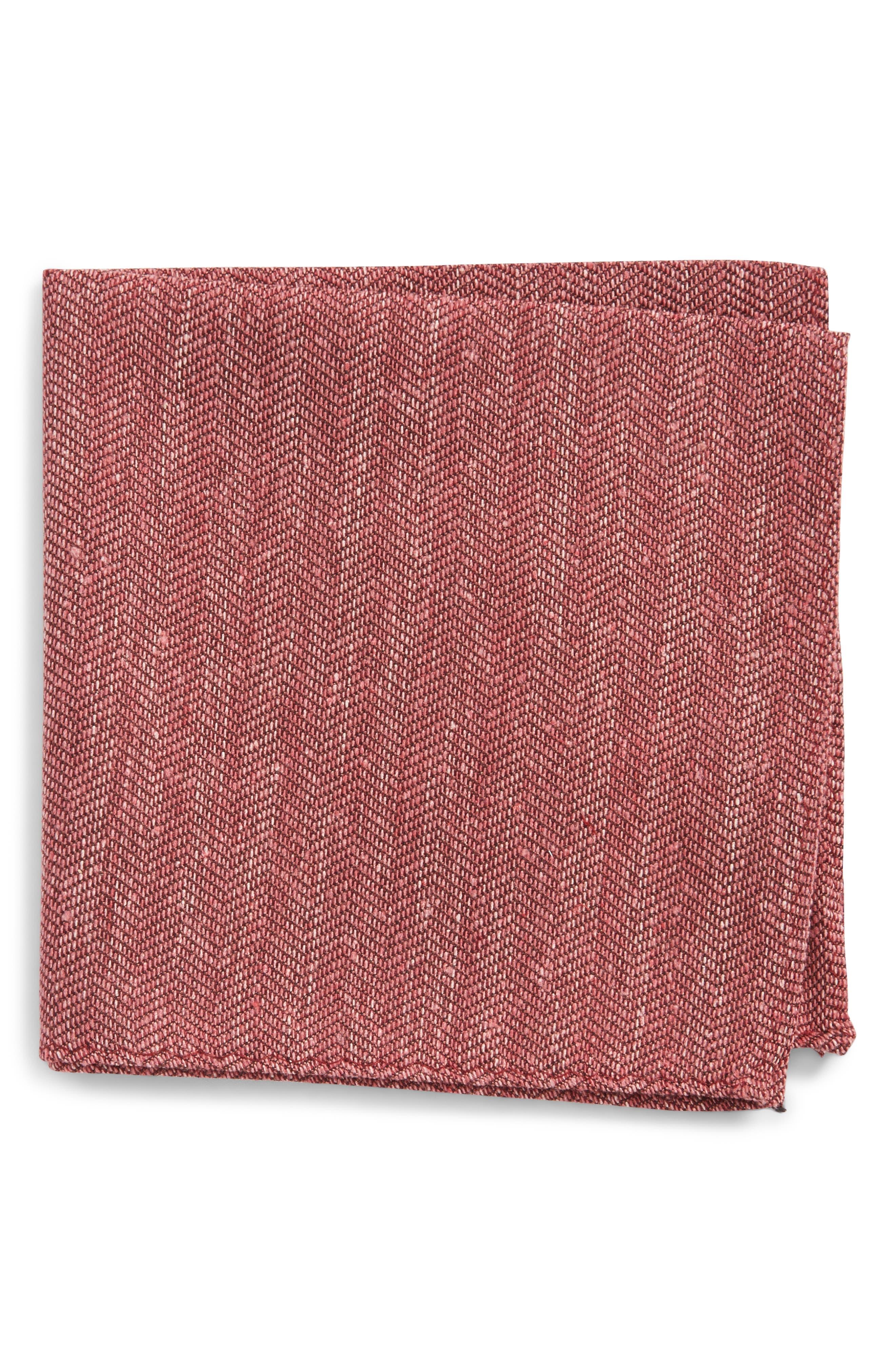 Main Image - The Tie Bar Threaded Zigzag Silk Pocket Square