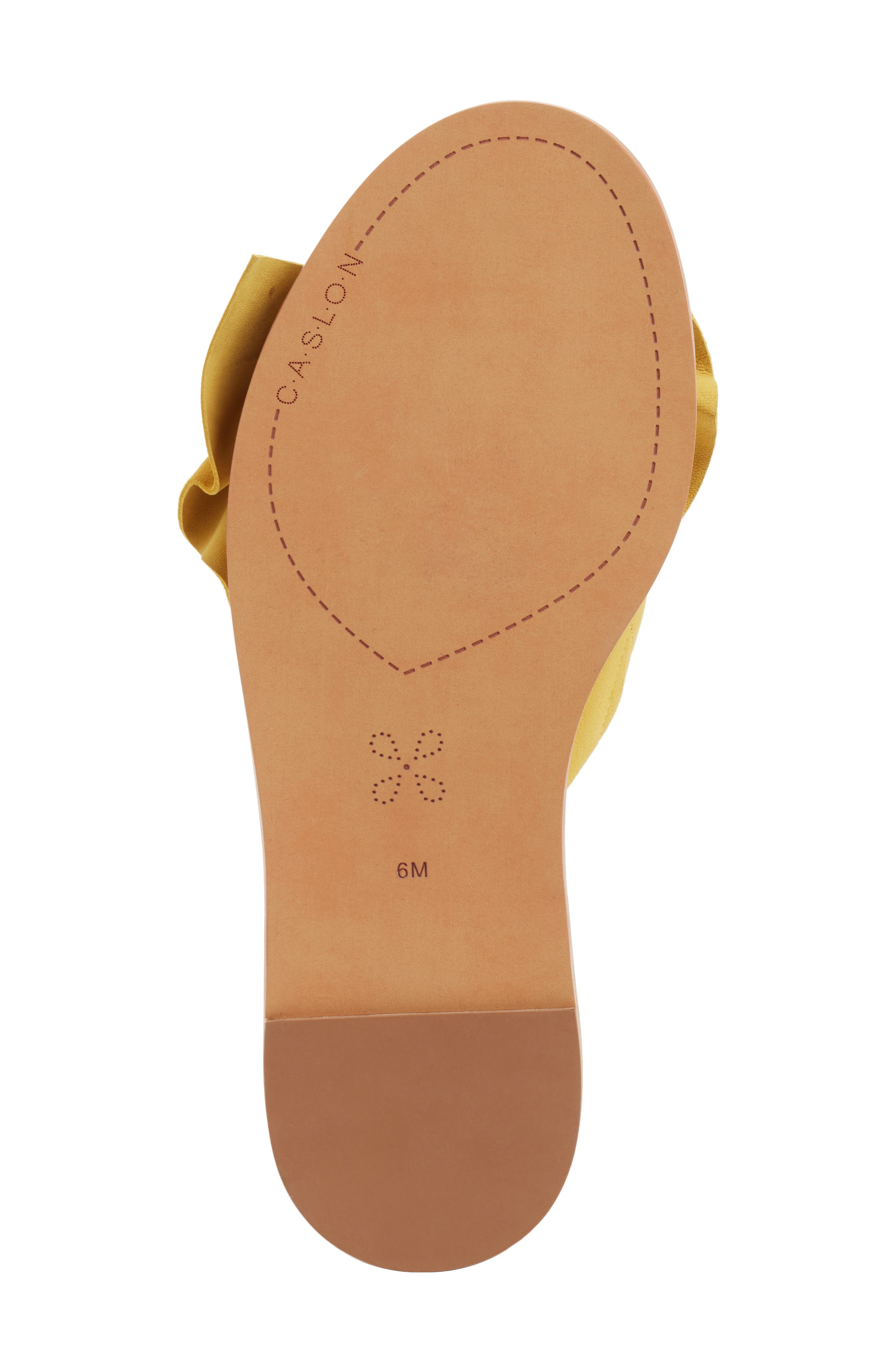 Darcie Slide Sandal,                             Alternate thumbnail 6, color,                             Mustard Suede