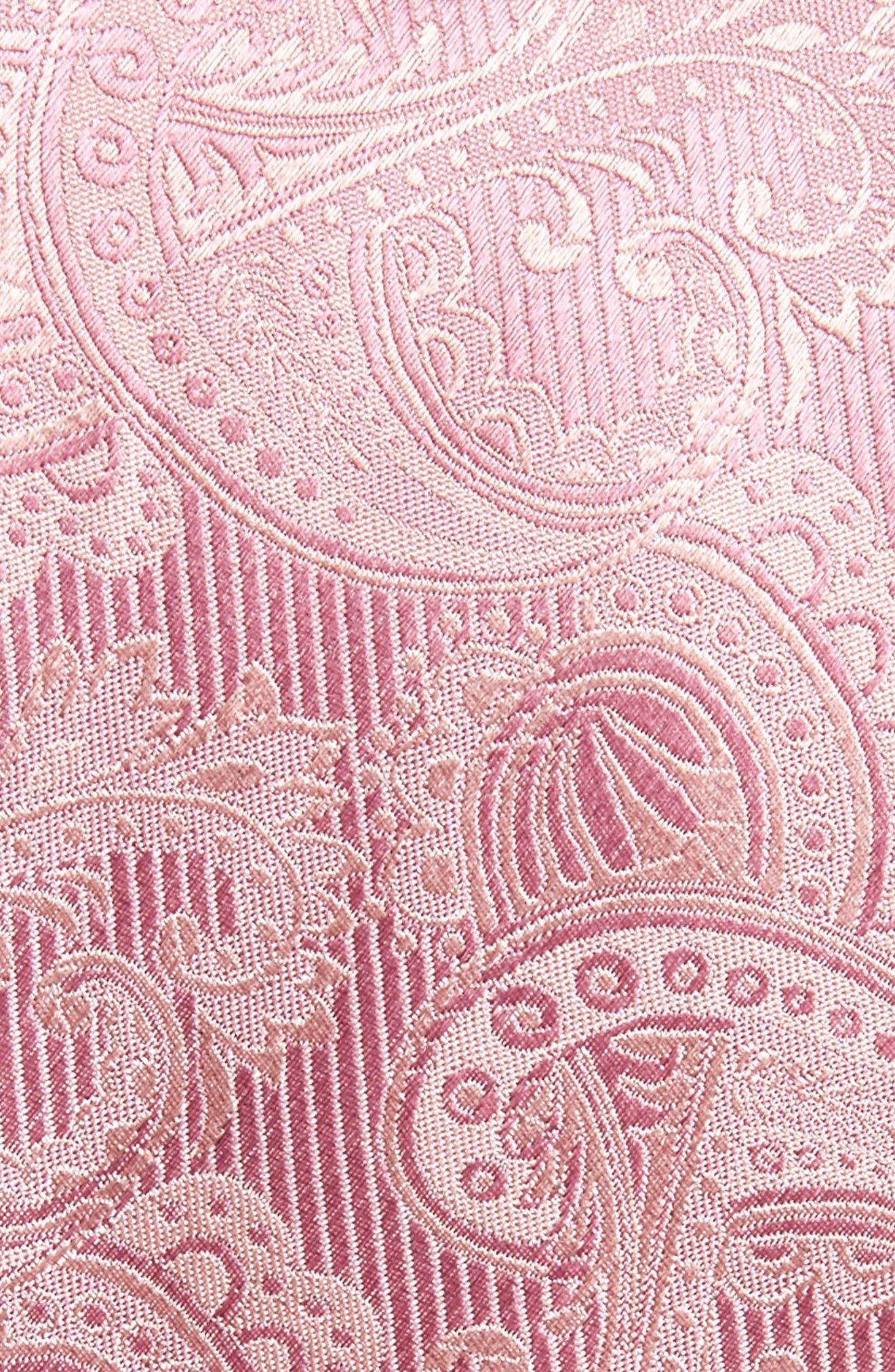 Paisley Silk Tie,                             Alternate thumbnail 2, color,                             Dusty Rose