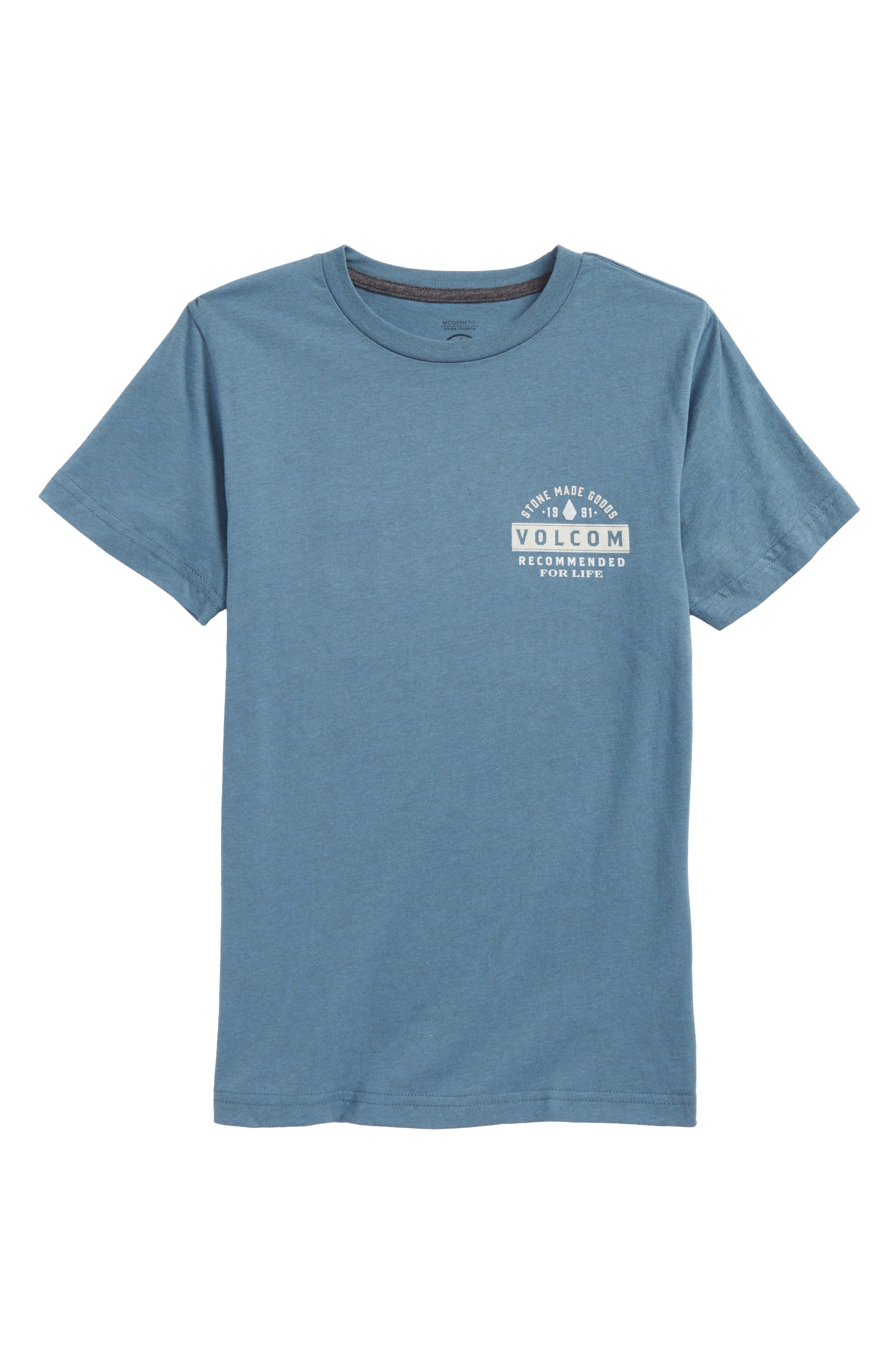Barred Logo Graphic T-Shirt,                         Main,                         color, Wrecked Indigo
