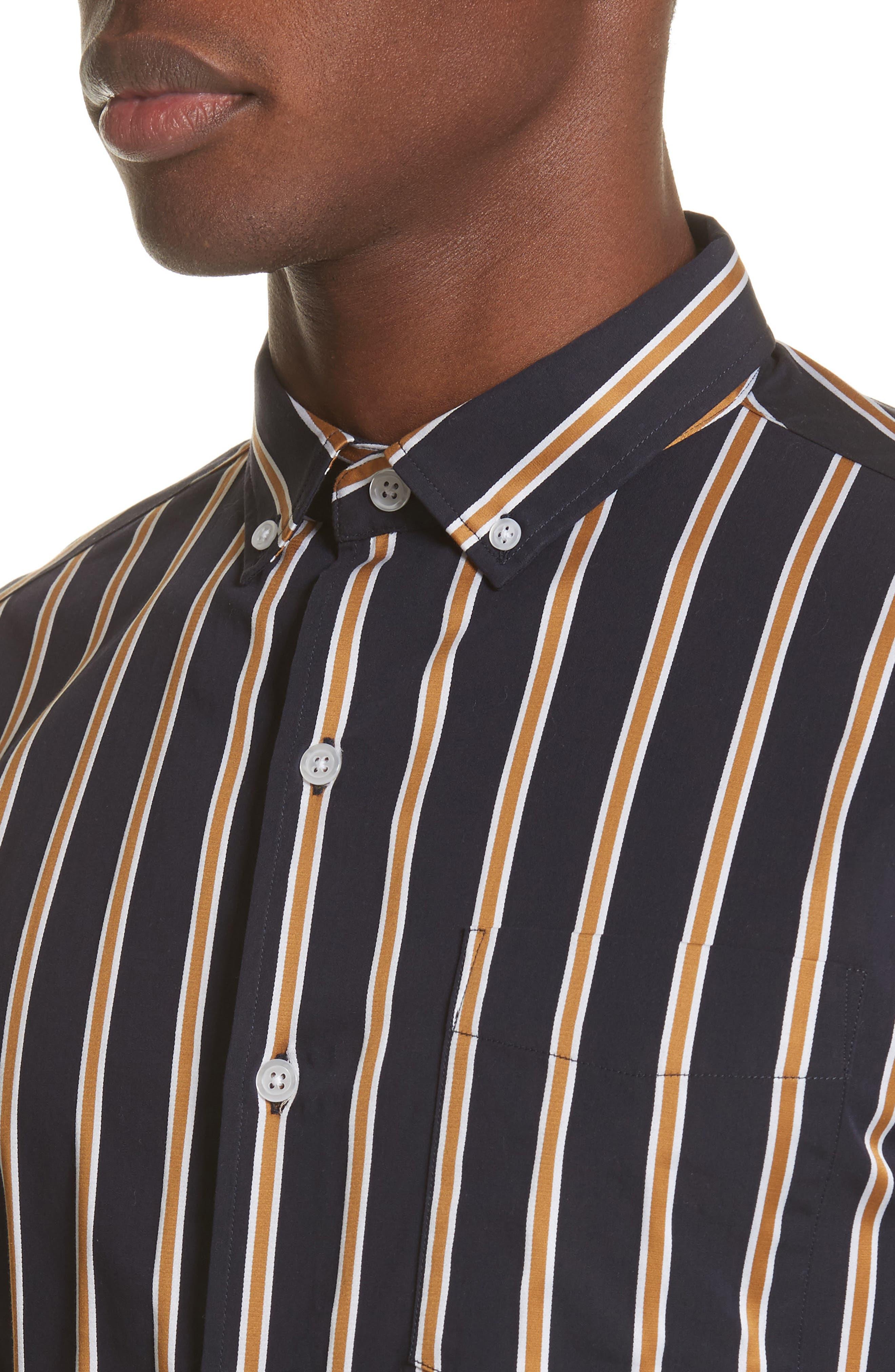 Alternate Image 4  - Saturdays NYC Crosby Satin Stripe Shirt