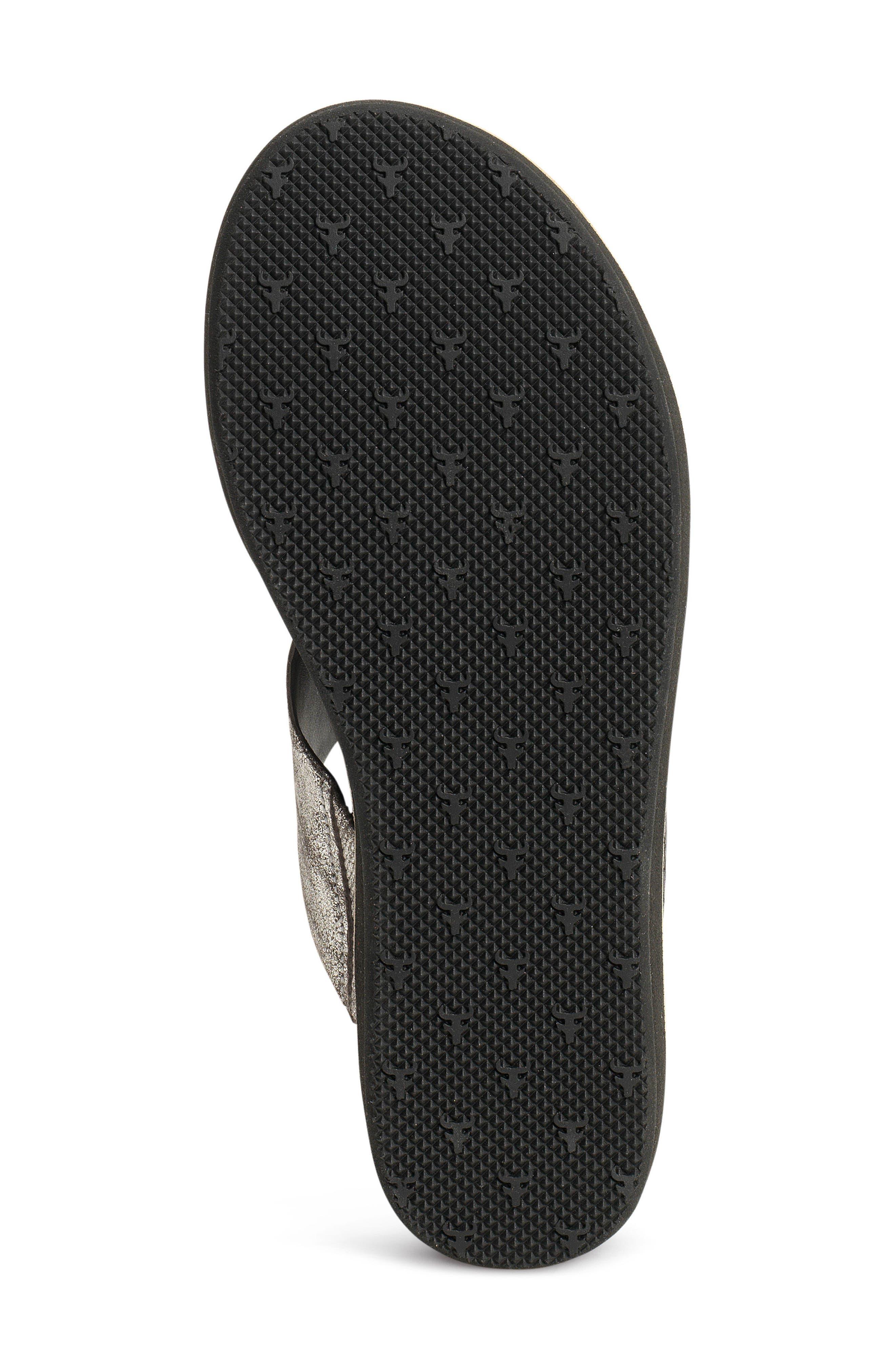 Codi Sandal,                             Alternate thumbnail 6, color,                             Black Embossed Leather