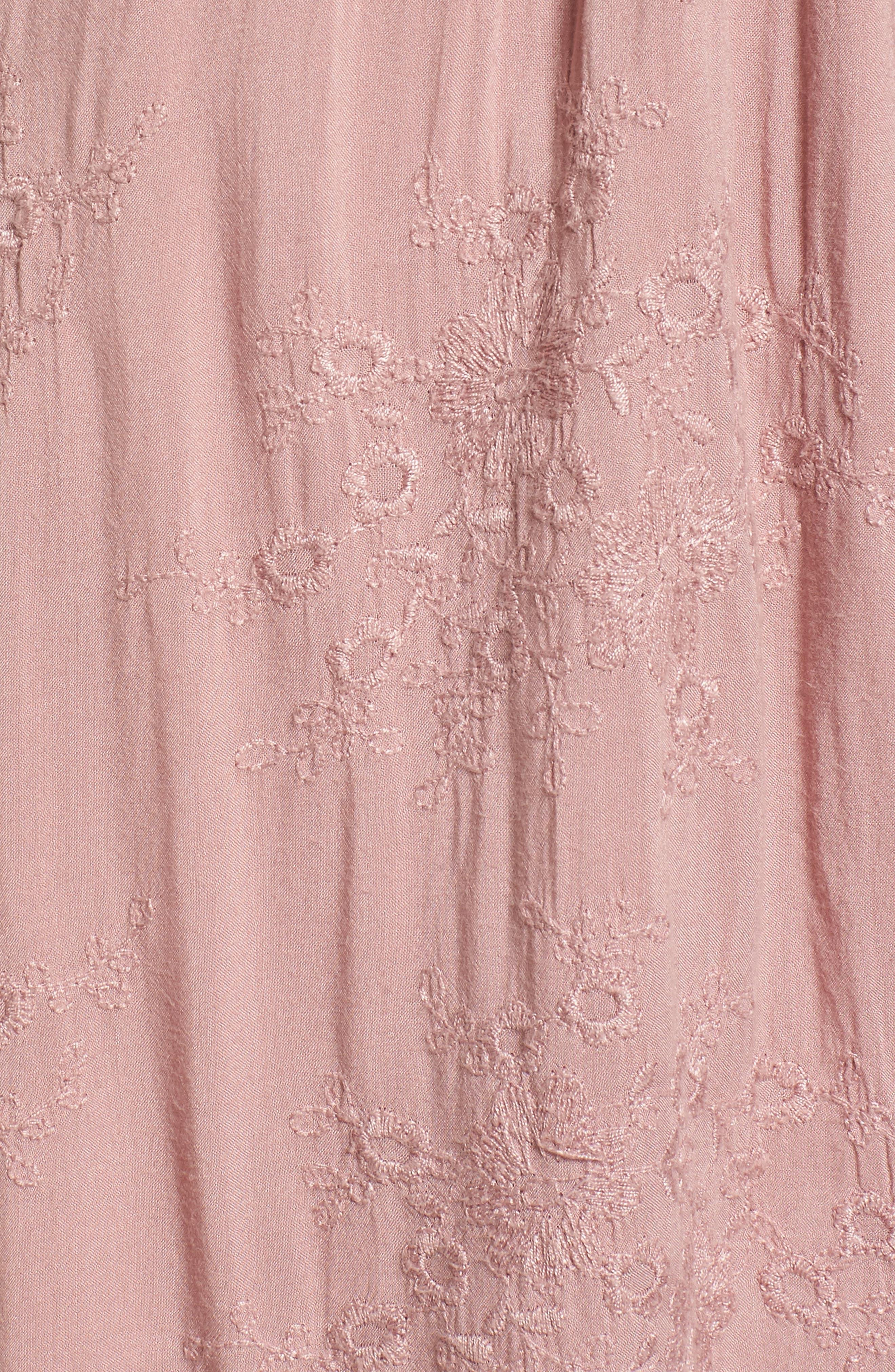 Rose Cold Shoulder High/Low Dress,                             Alternate thumbnail 6, color,                             Rosy Pink