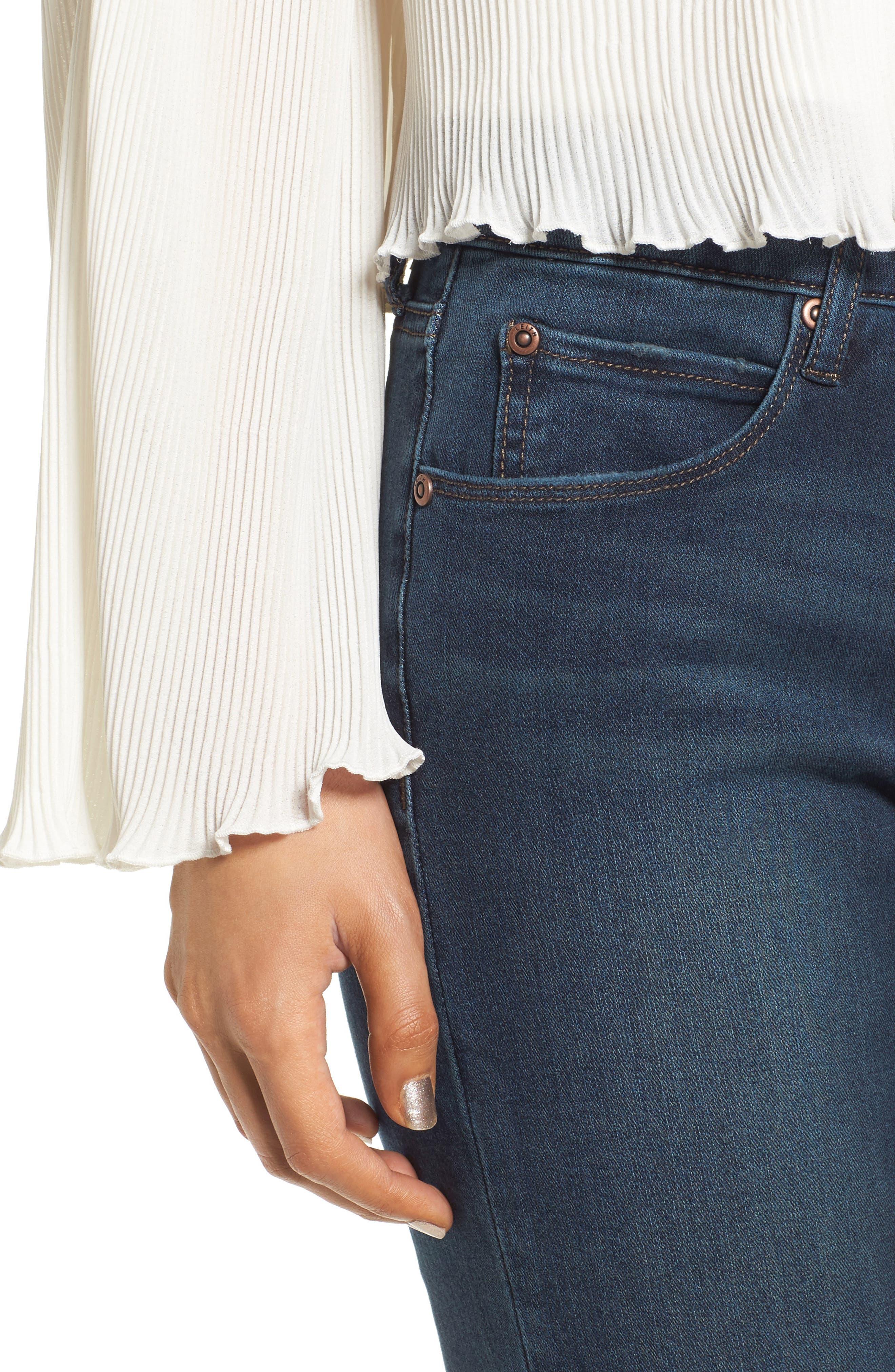 Alternate Image 4  - Leith Skinny Jeans (Medium Wash)