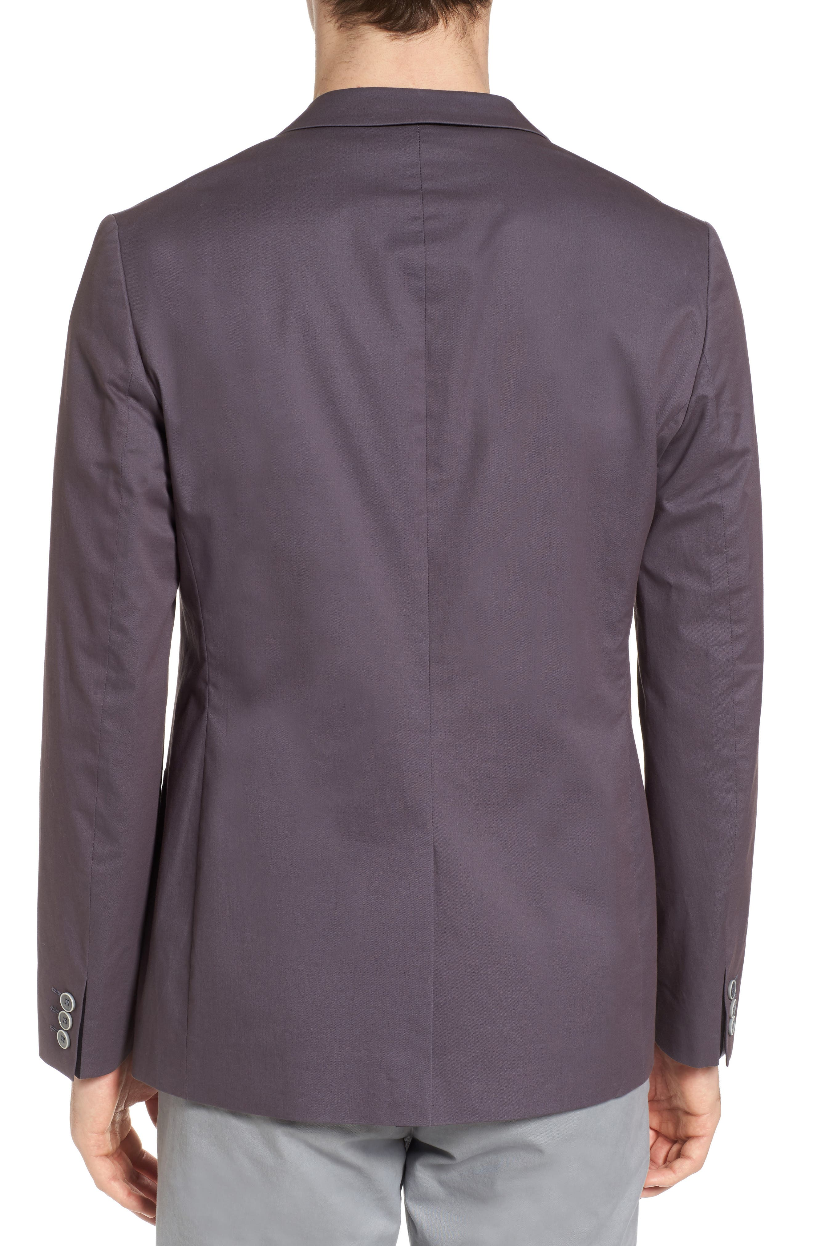 Cliford Trim Fit Stretch Cotton Blazer,                             Alternate thumbnail 2, color,                             Light Grey