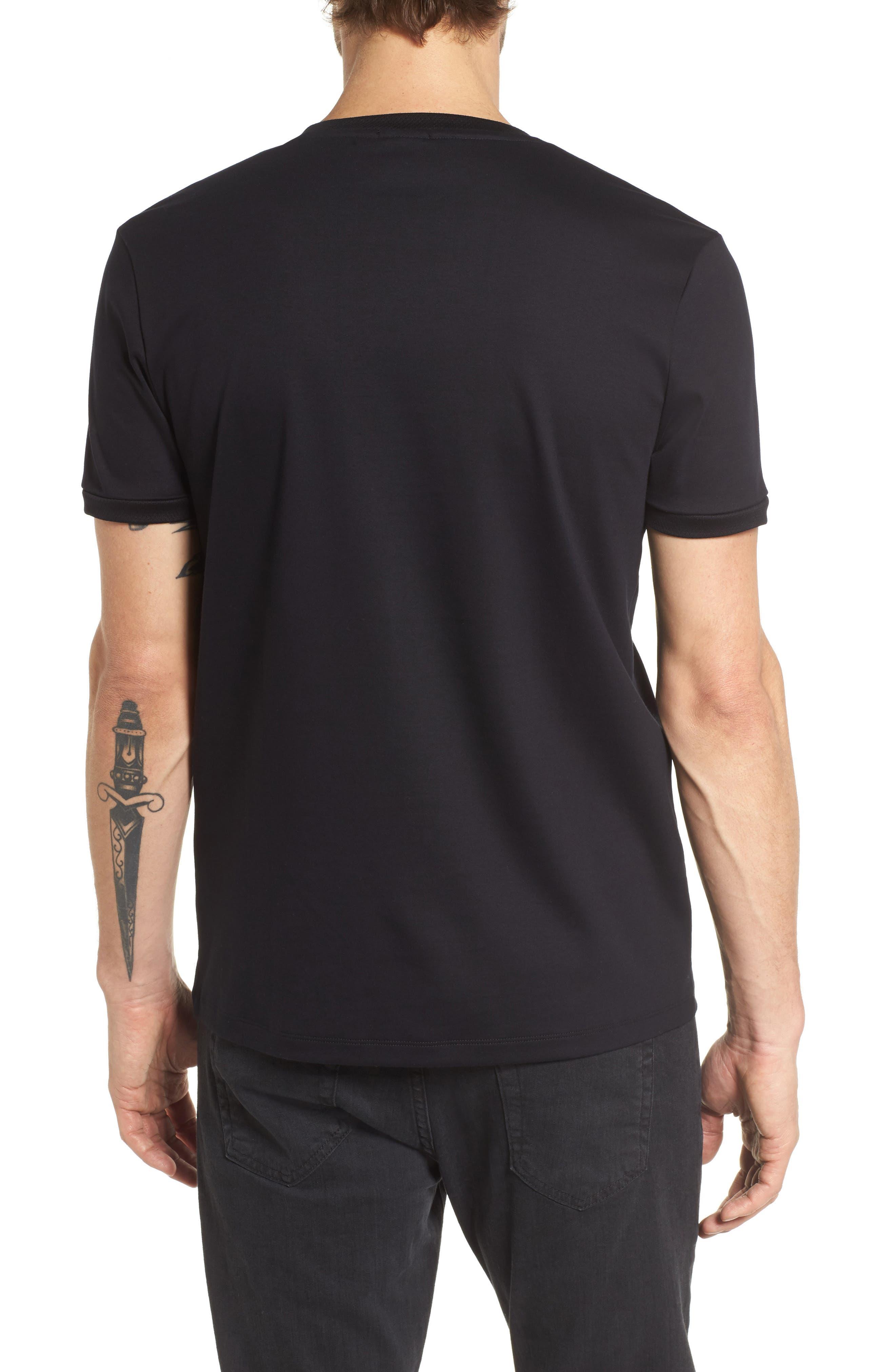 Tessler Mercedes Slim Fit Crewneck T-Shirt,                             Alternate thumbnail 2, color,                             Black