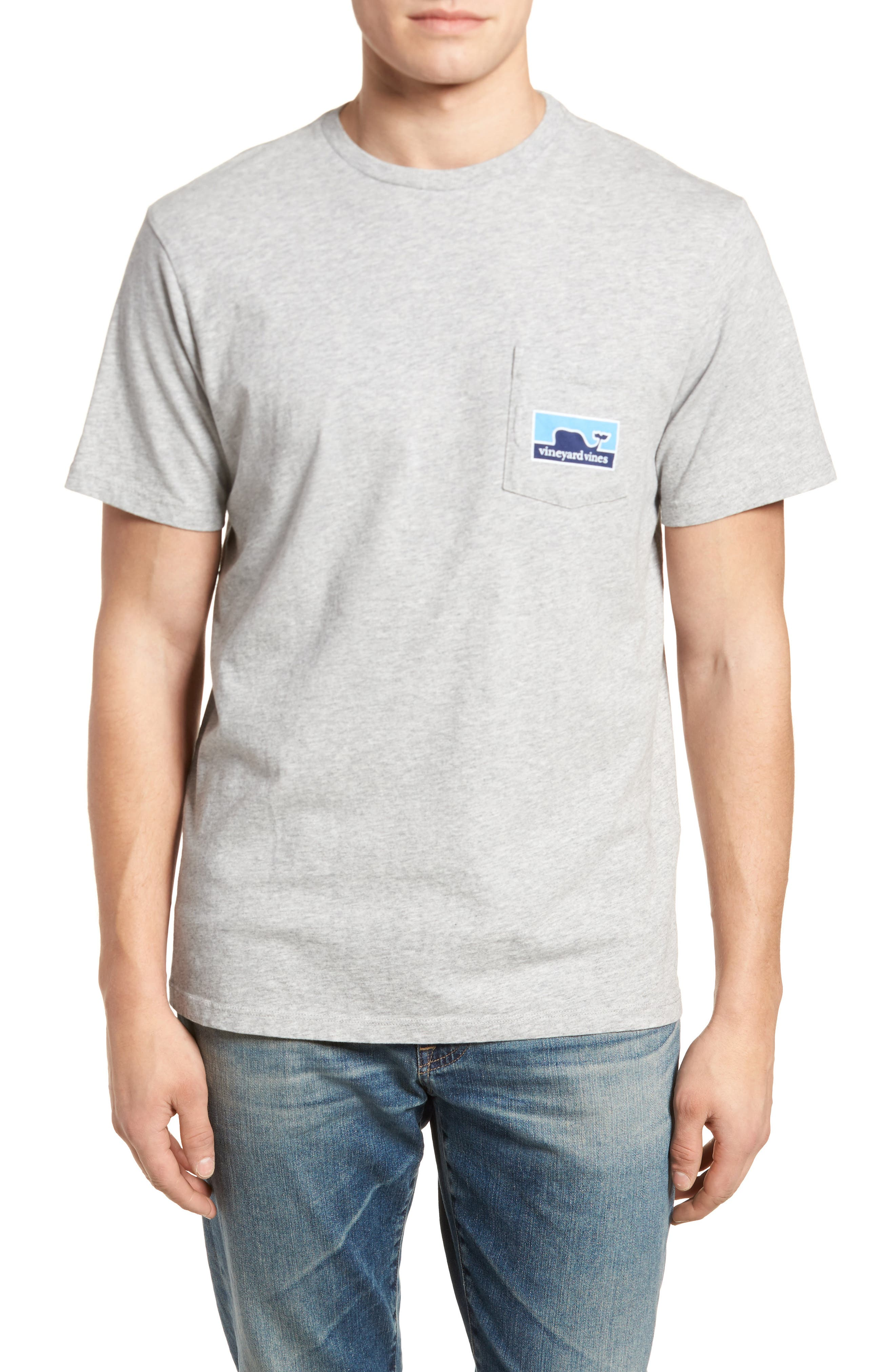 Whaleline Graphic Pocket T-Shirt,                             Alternate thumbnail 2, color,                             Grey Heather