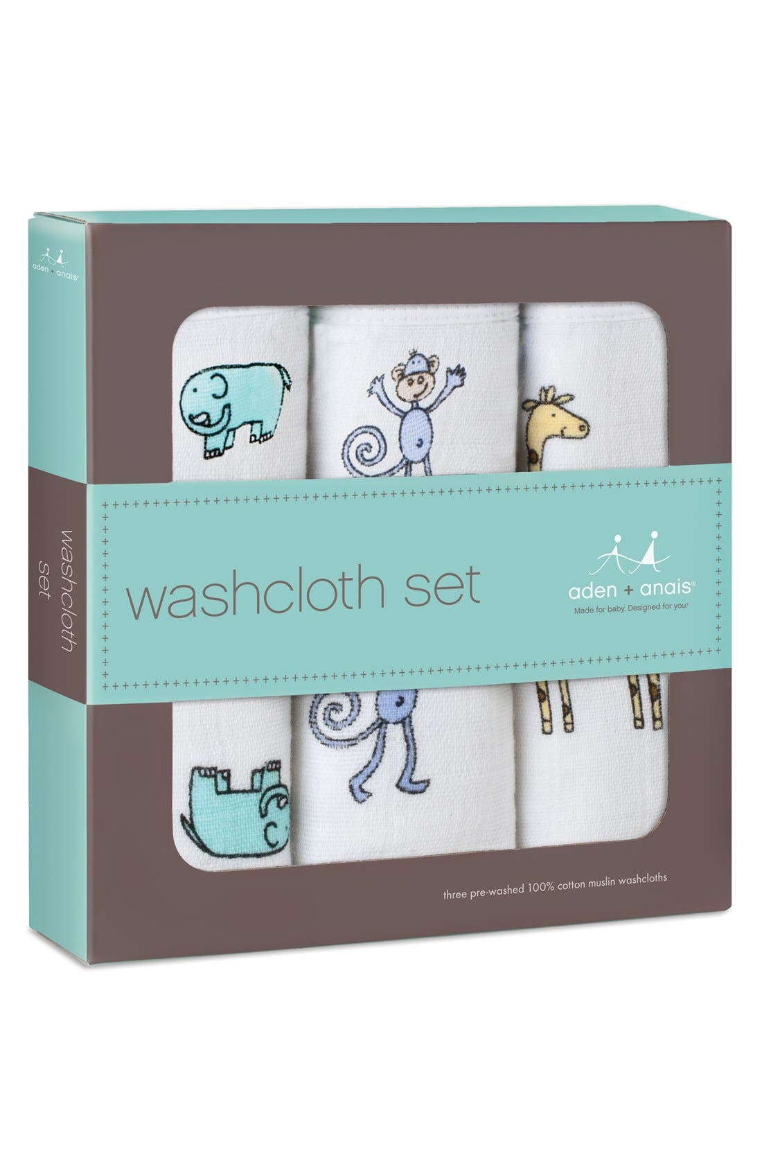Alternate Image 2  - aden + anais Classic Washcloth Set (3-Pack)