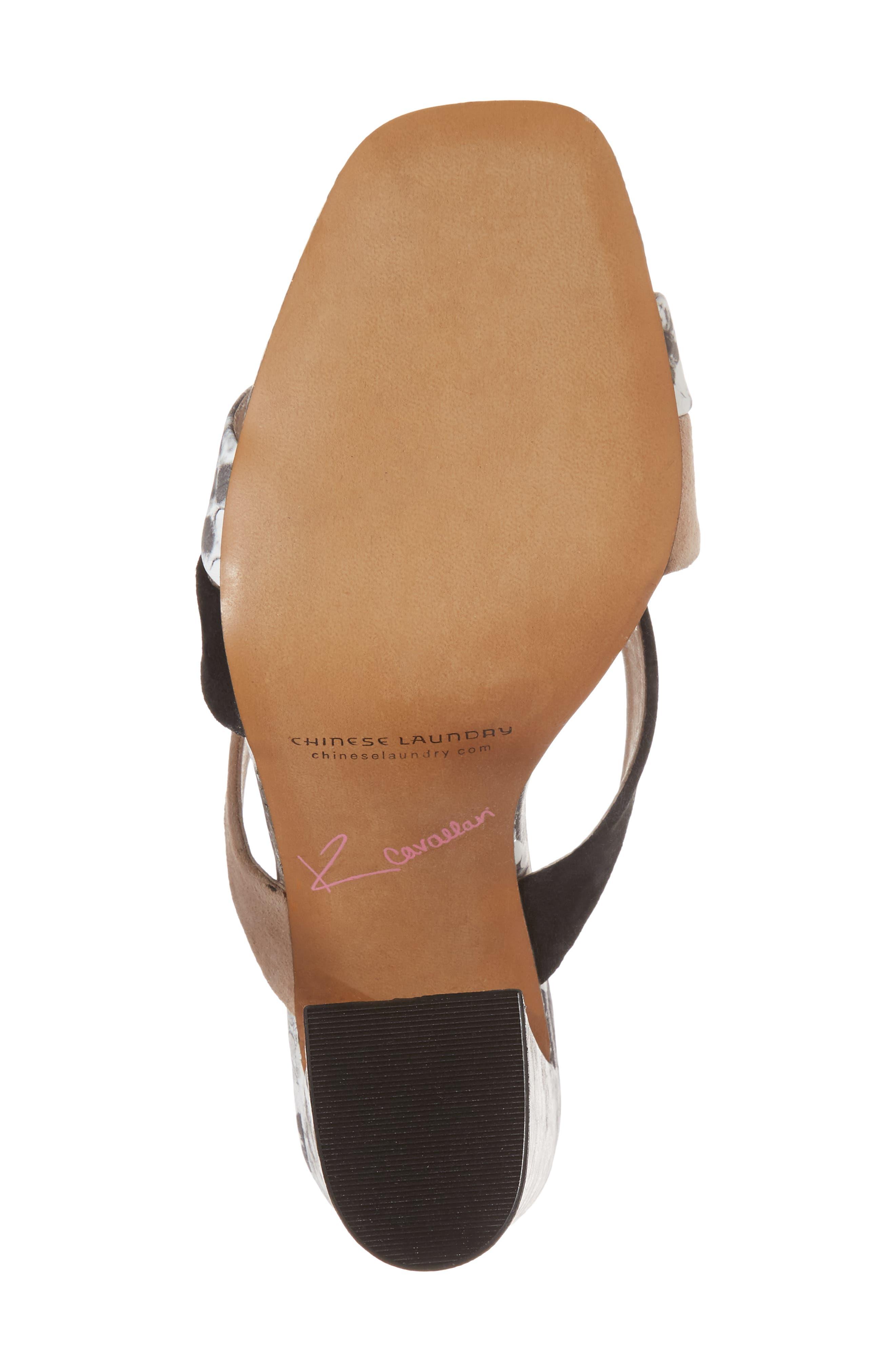 Lola Slide Sandal,                             Alternate thumbnail 6, color,                             Grey/ White Print Leather