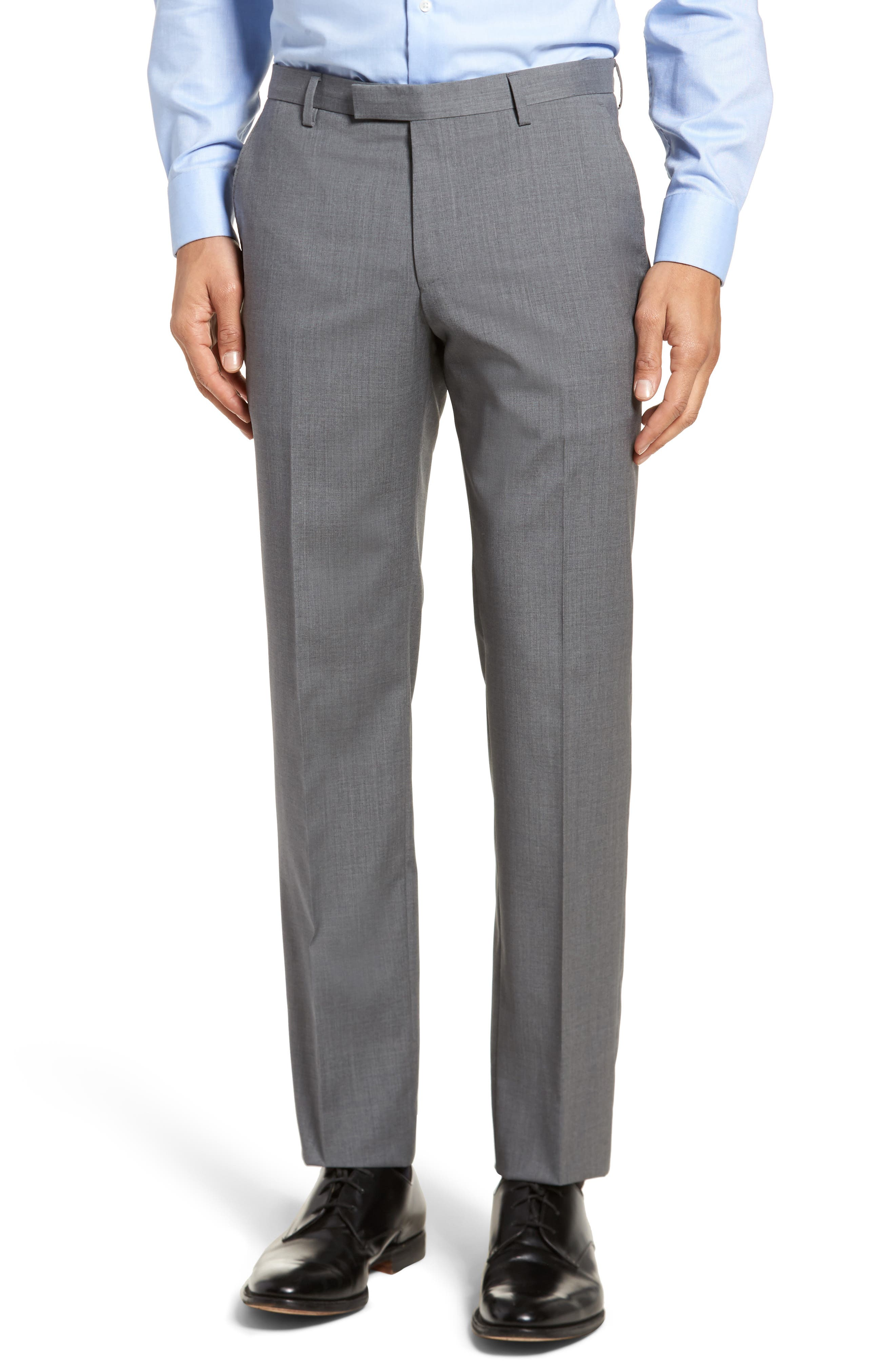 Johnstons/Lenon Classic Fit Solid Wool Suit,                             Alternate thumbnail 6, color,                             Medium Grey