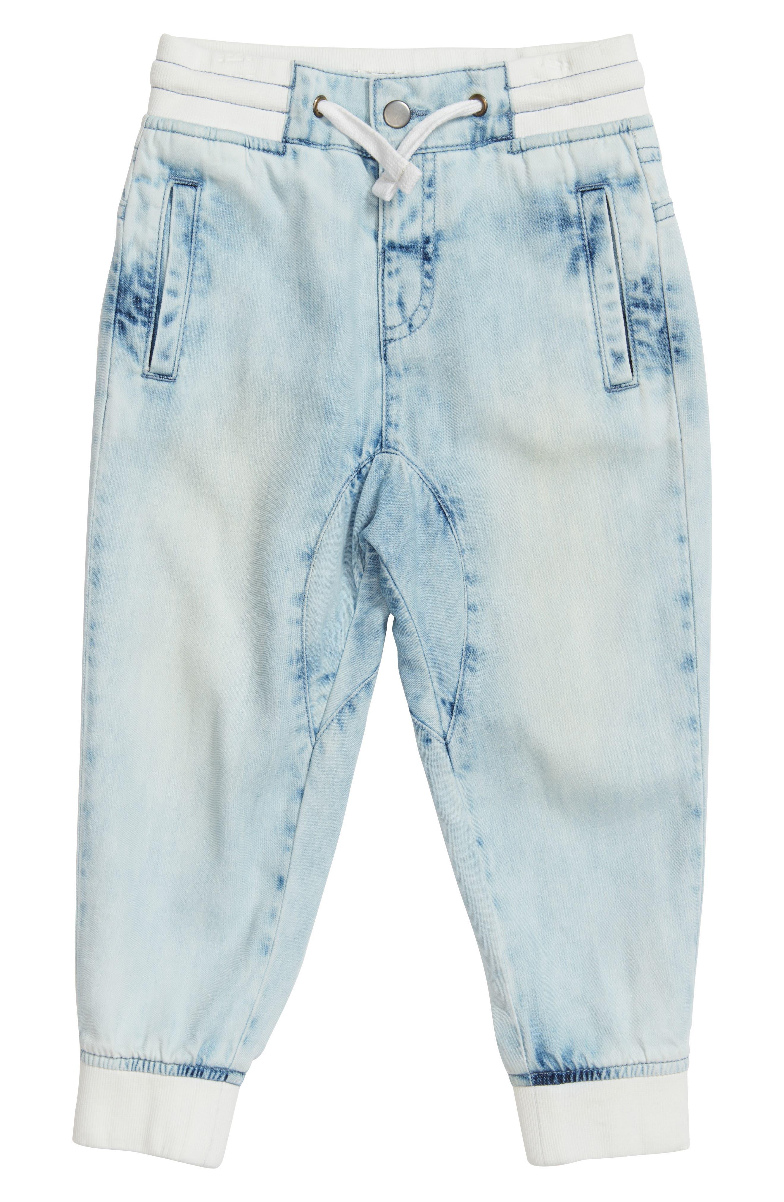 Stem Denim Jogger Pants (Toddler Girls, Little Girls & Big Girls)
