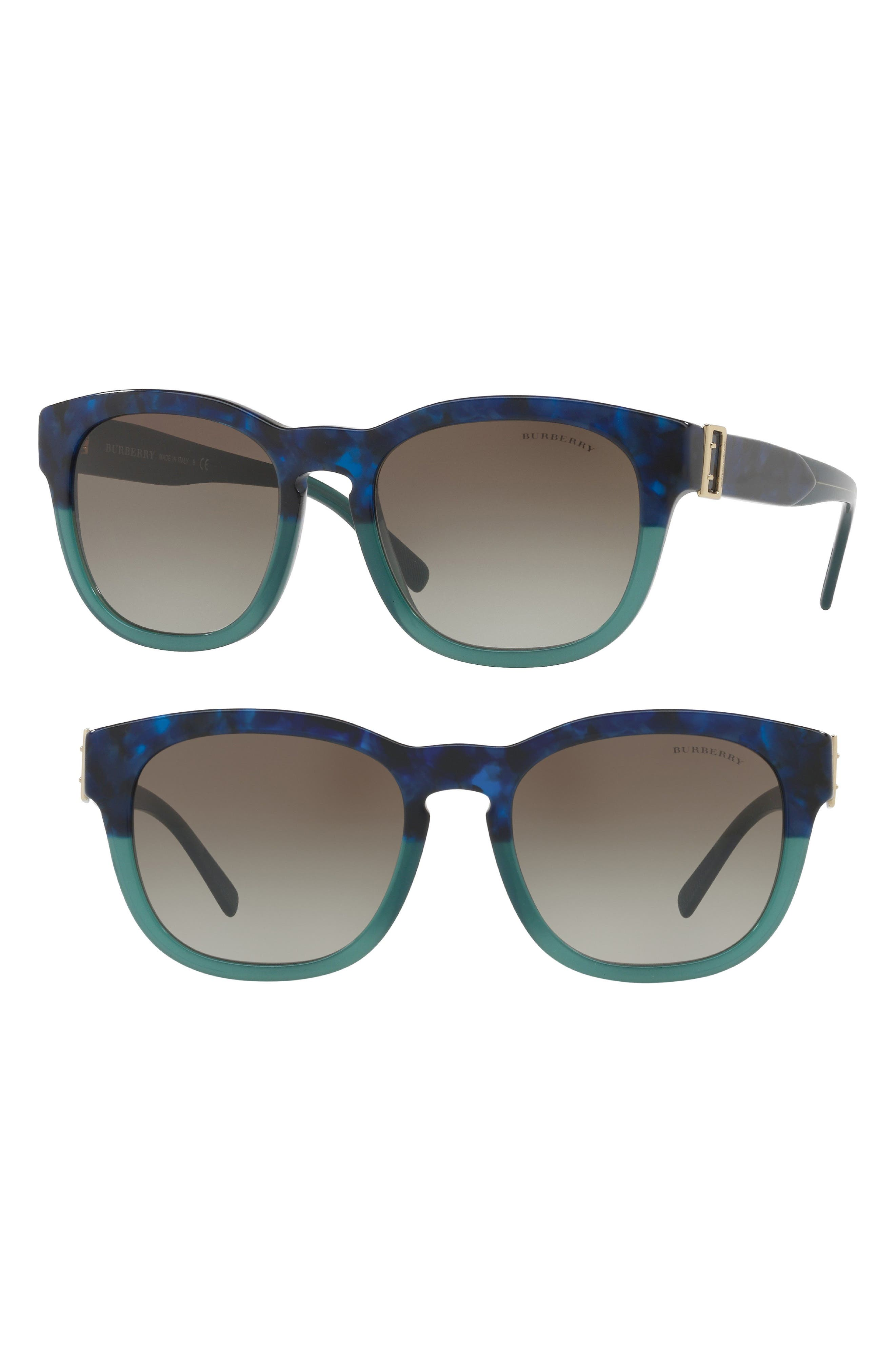 fe85112ac61 Burberry 54Mm Cat Eye Sunglasses - Blue Havana
