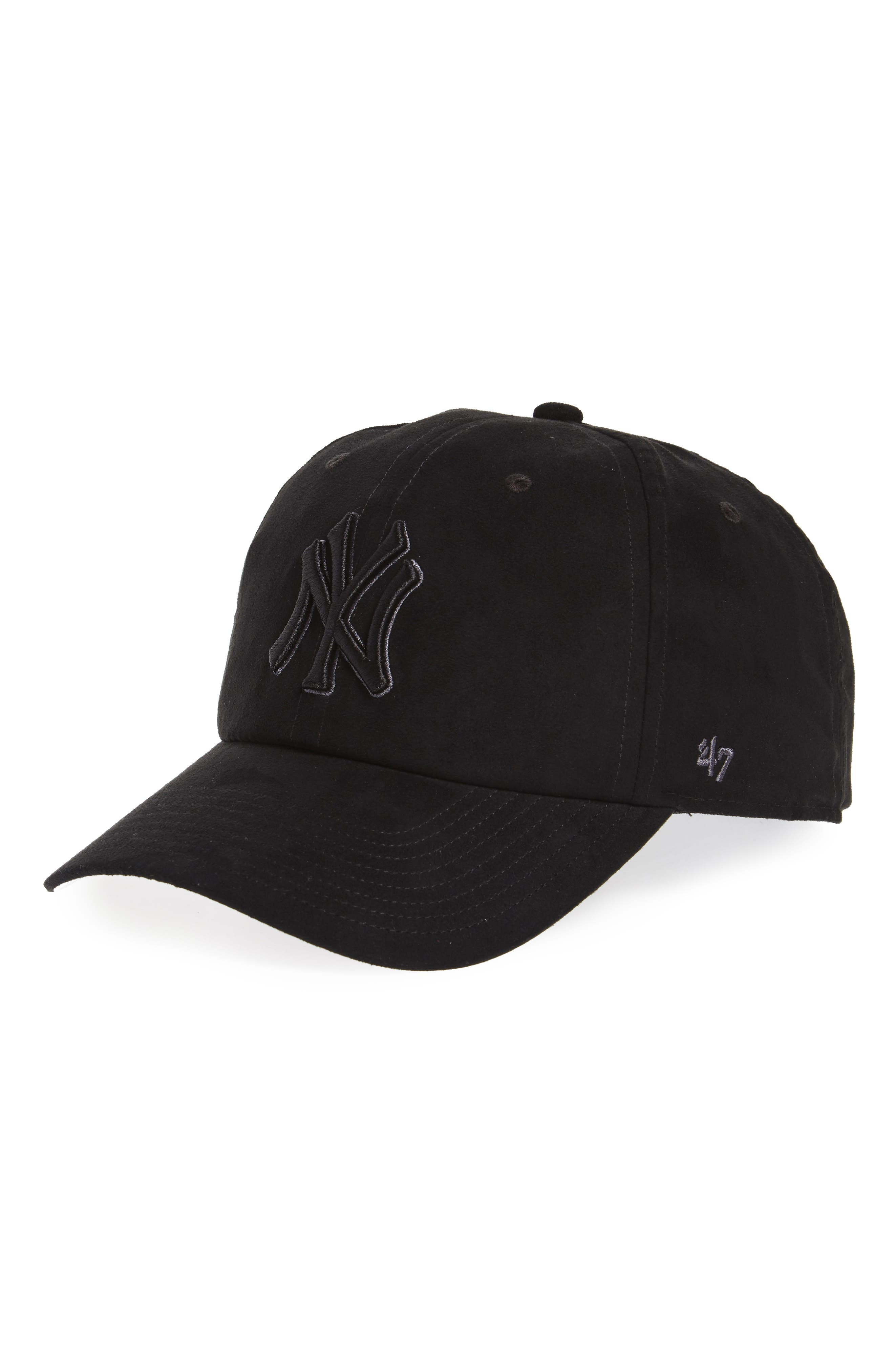 Ultrabasic Clean Up New York Yankees Baseball Cap,                             Main thumbnail 1, color,                             Black
