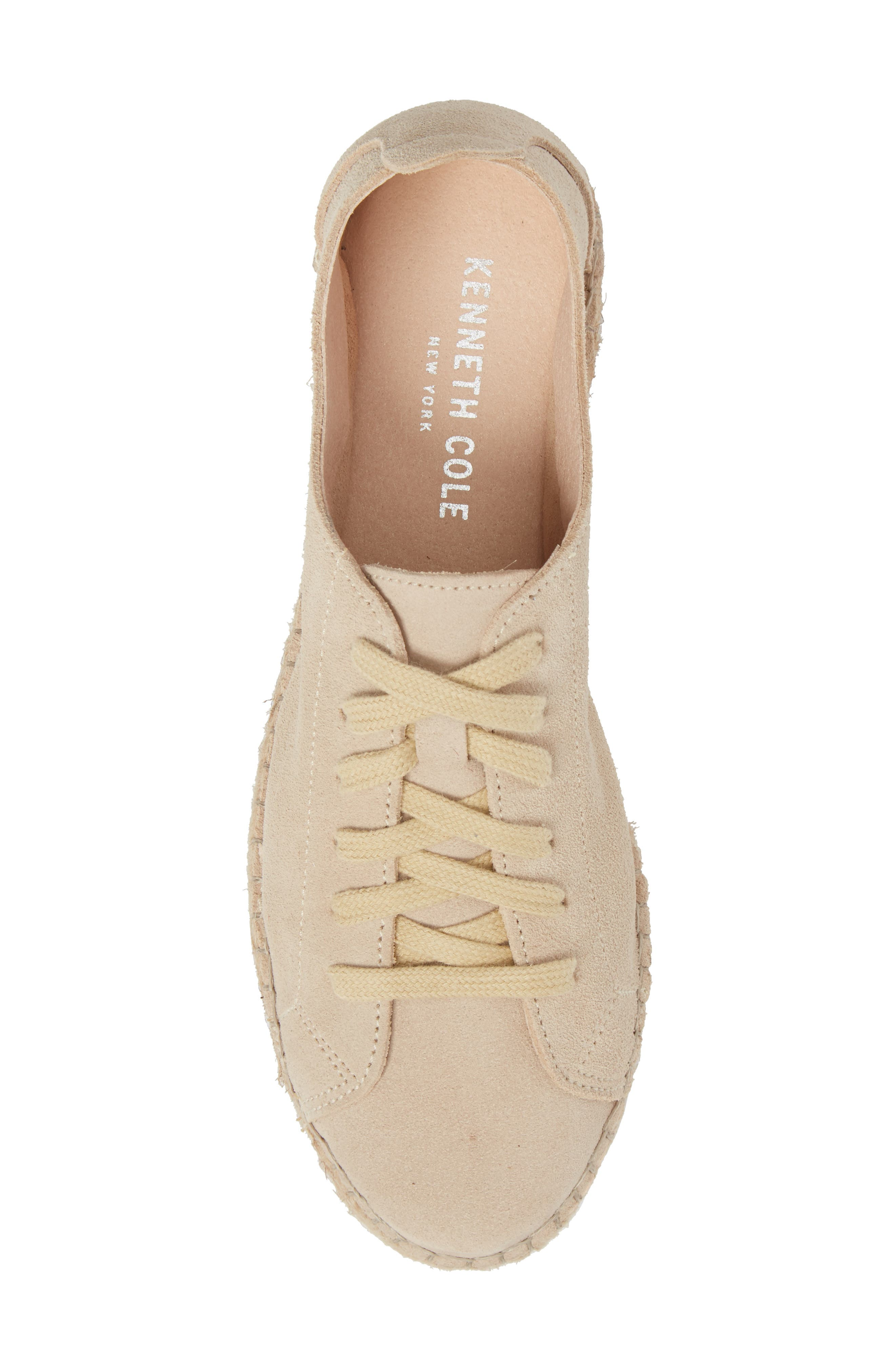 Zane Espadrille Sneaker,                             Alternate thumbnail 5, color,                             Taupe Suede