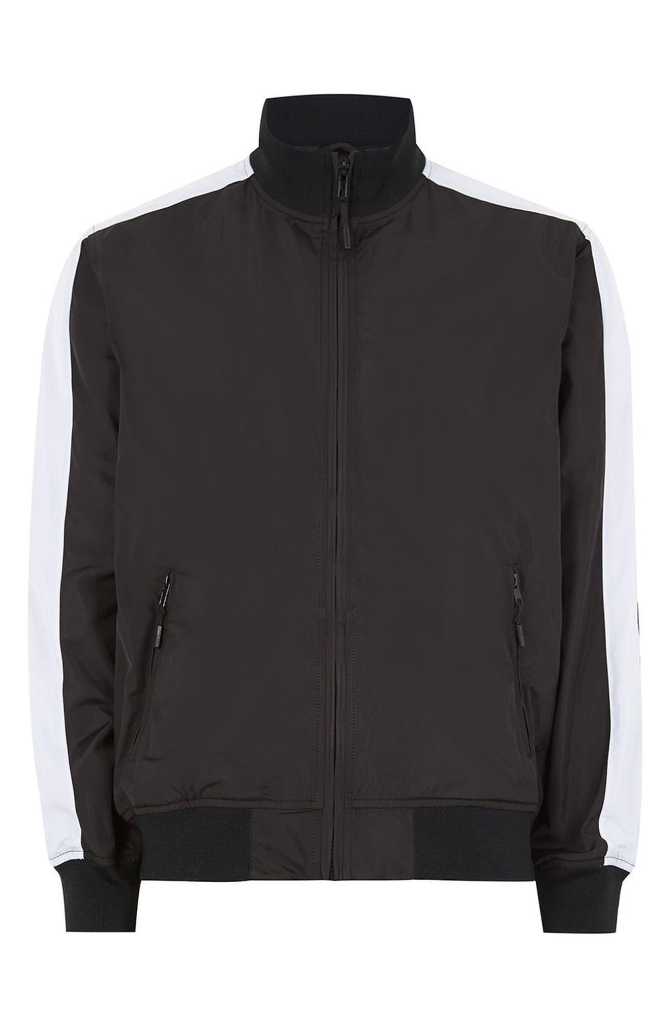 Sport Track Jacket,                             Alternate thumbnail 4, color,                             Black Multi