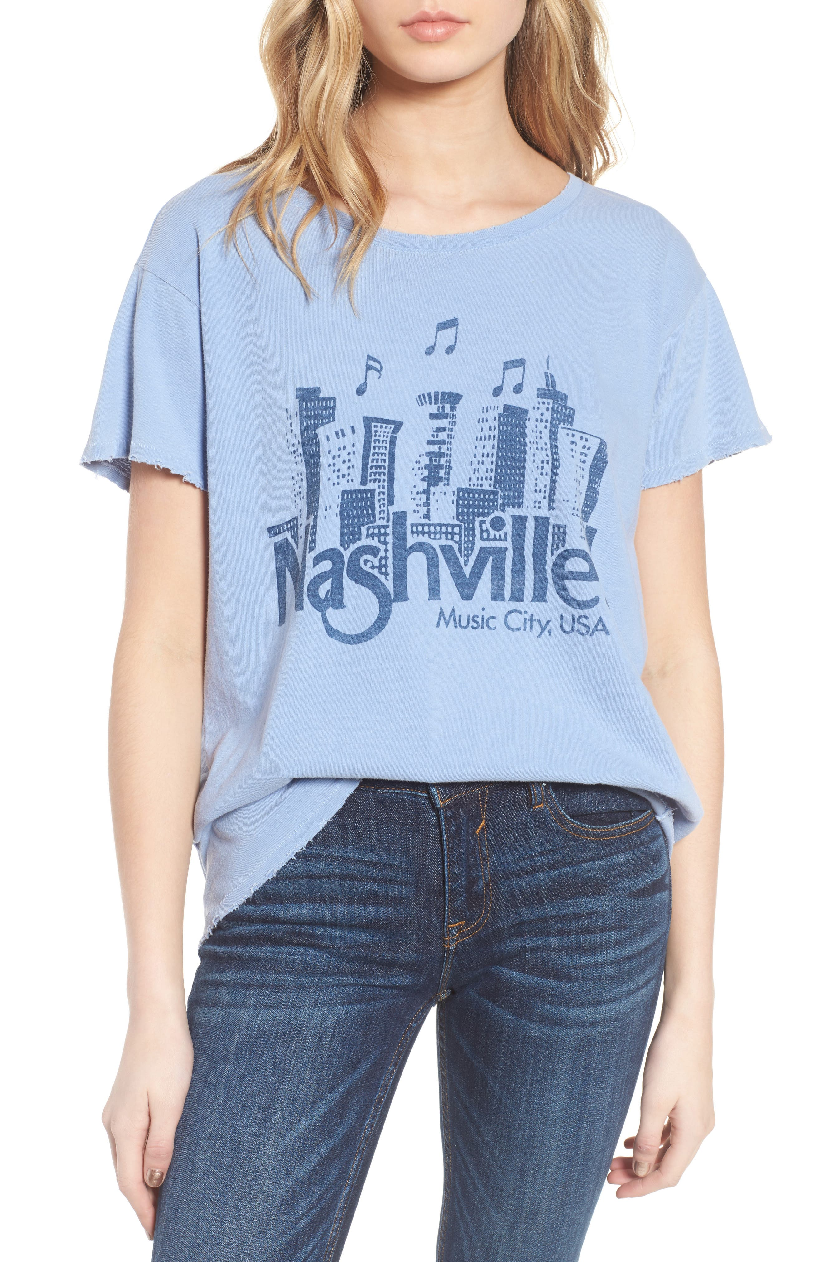 Nashville Tee,                             Main thumbnail 1, color,                             Indigo