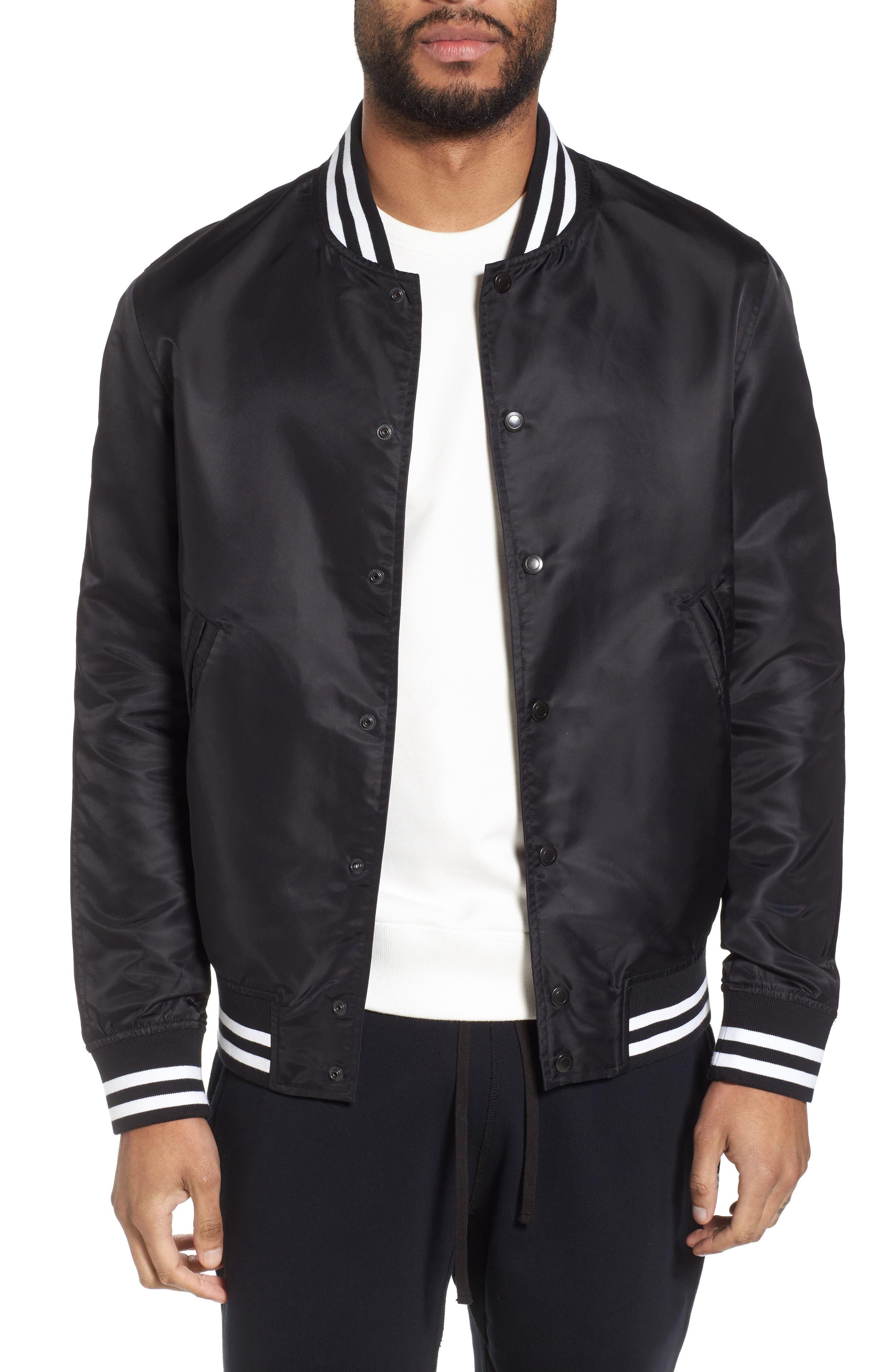 Logo Bomber Jacket,                         Main,                         color, Black