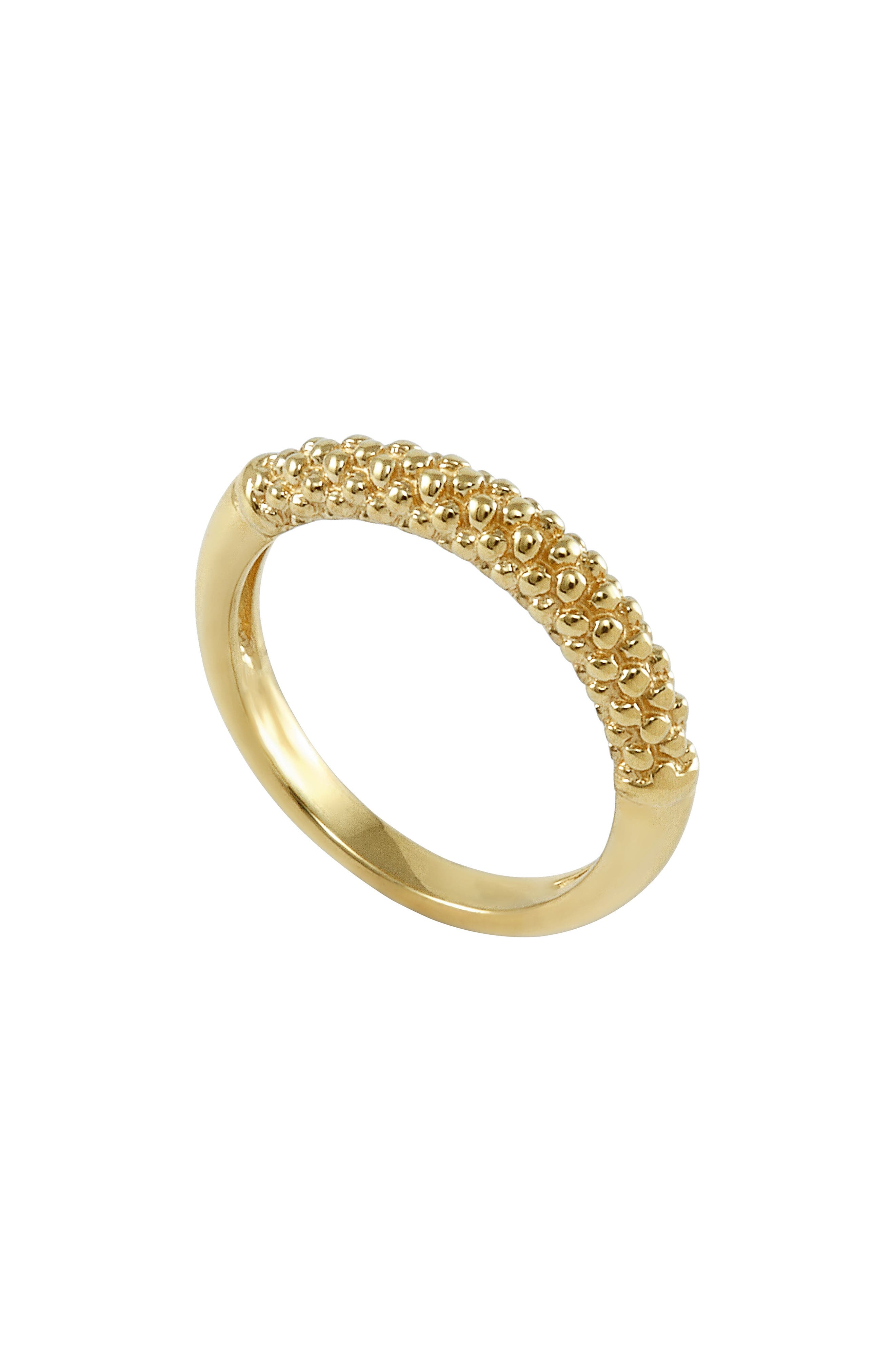 Caviar Band Ring,                         Main,                         color, Gold
