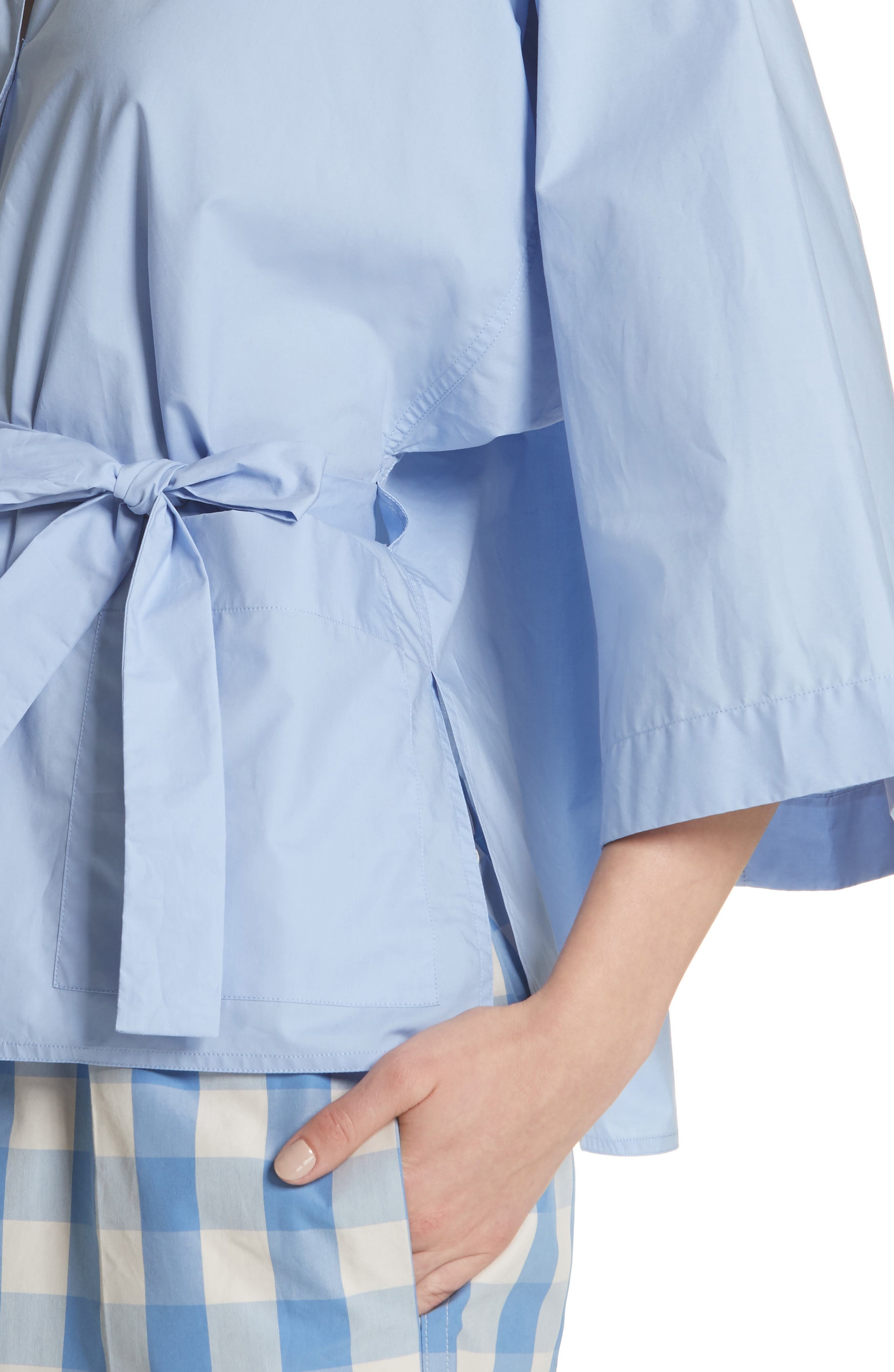 Belted Blouse,                             Alternate thumbnail 4, color,                             Dragee