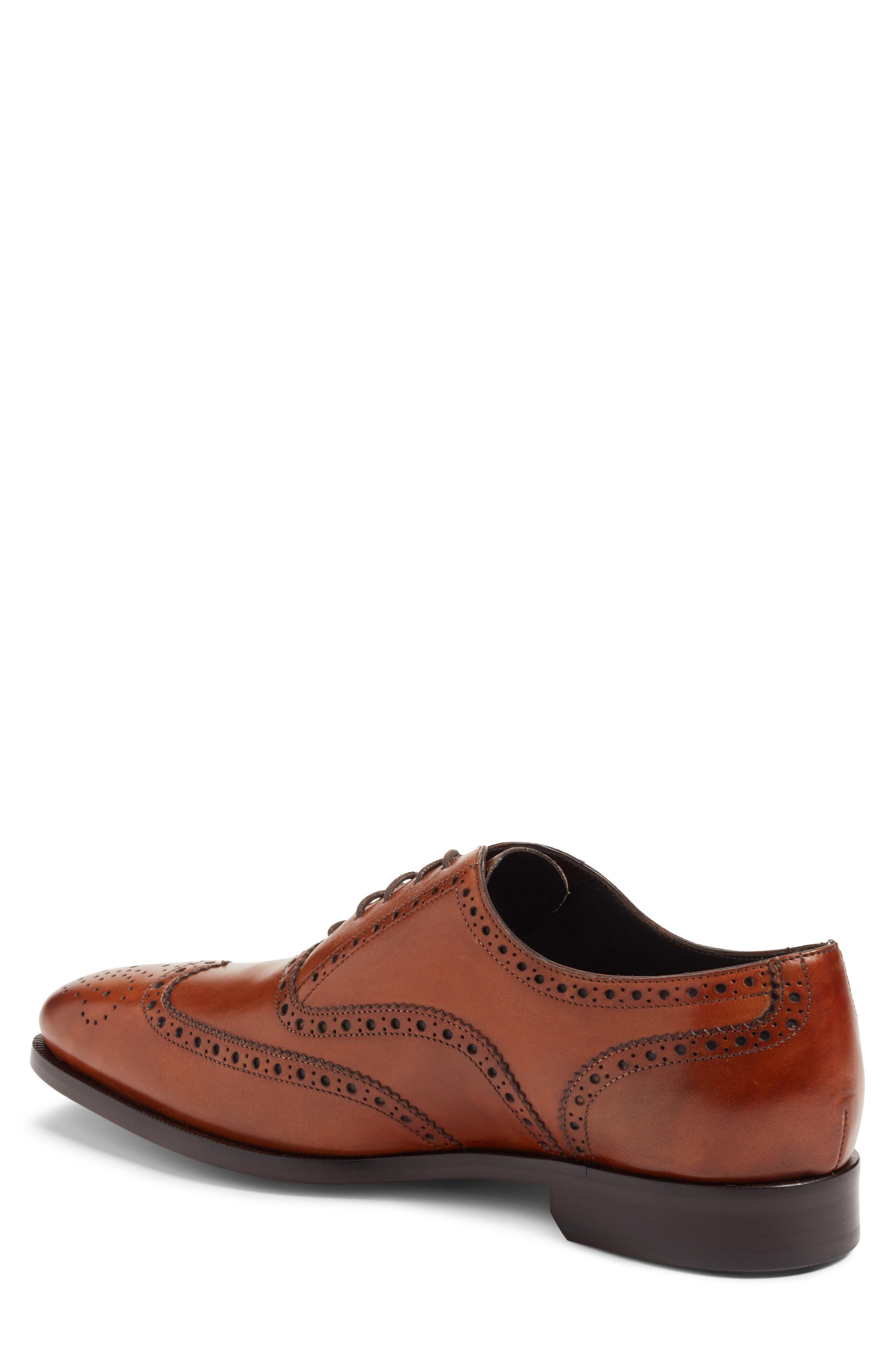 Ambler Wingtip,                             Alternate thumbnail 2, color,                             Cognac Leather